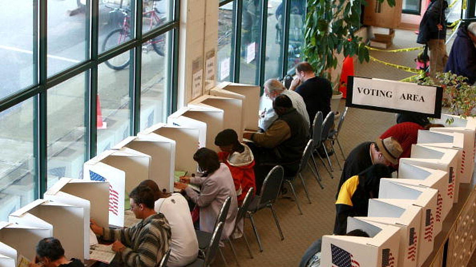 Voters in Portland, Oregon.