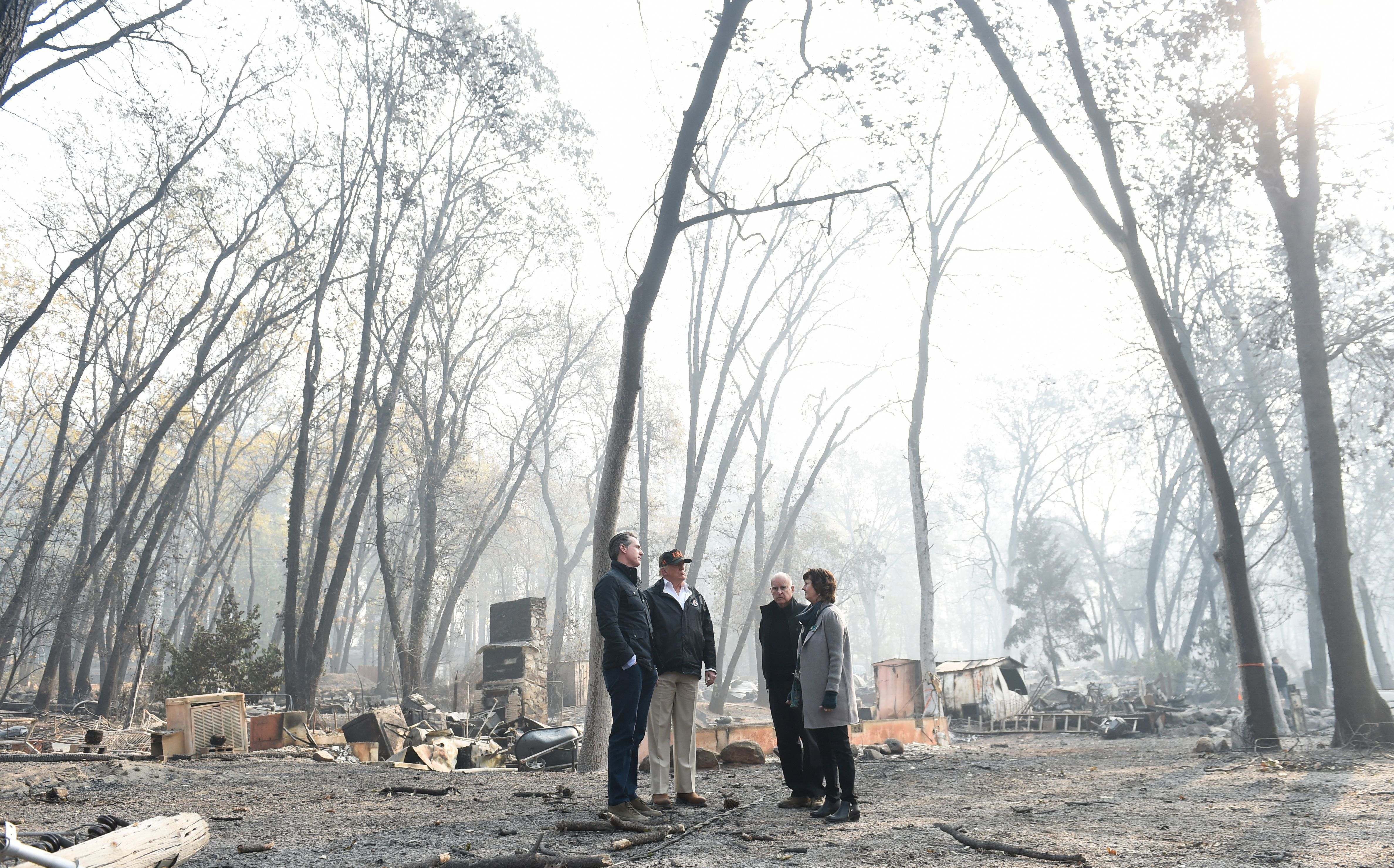 California wildfires with trump