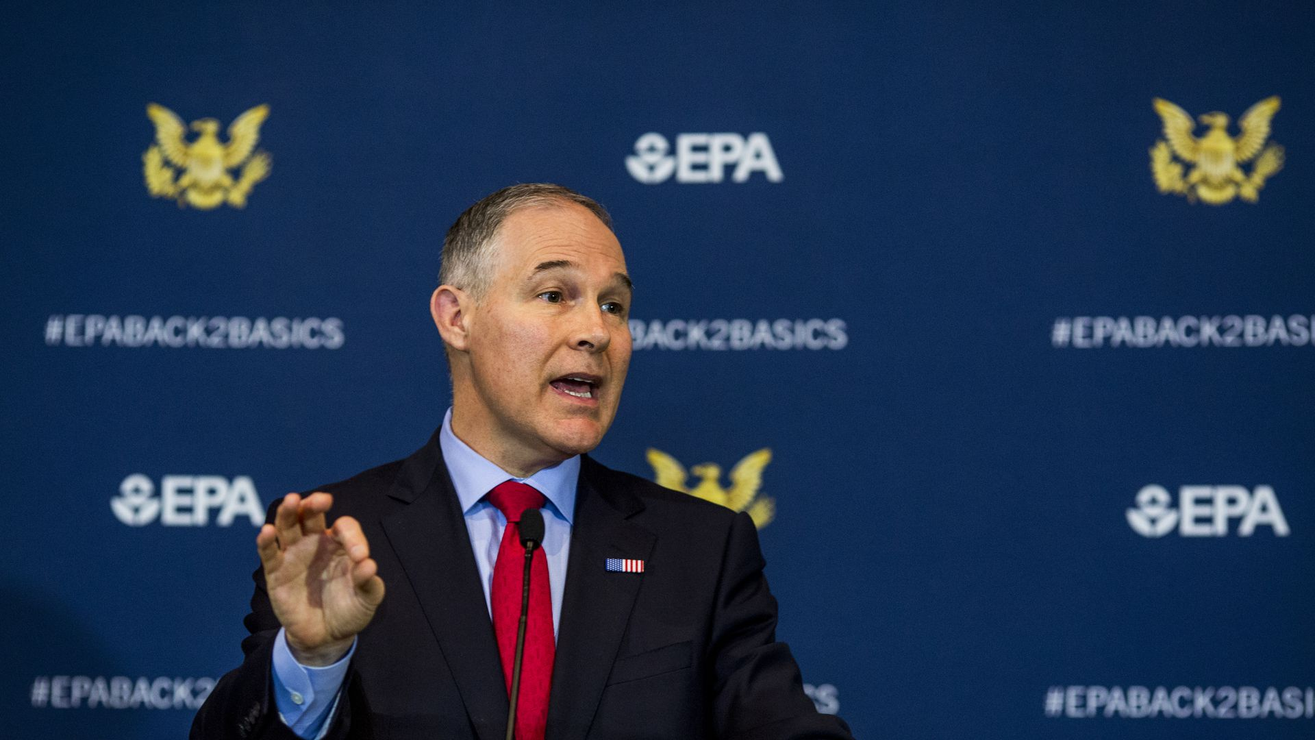 Scott Pruitt at a press conference