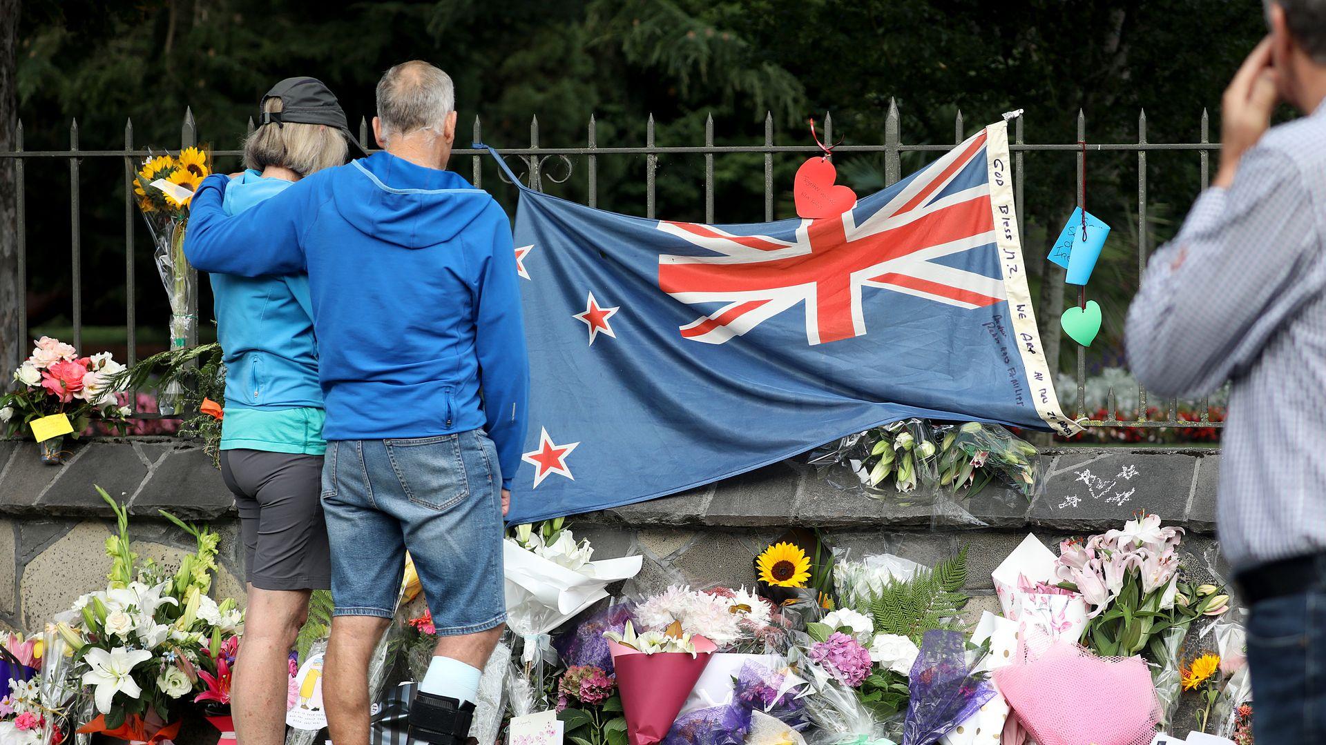Memorial for NEw zealand mass shooting
