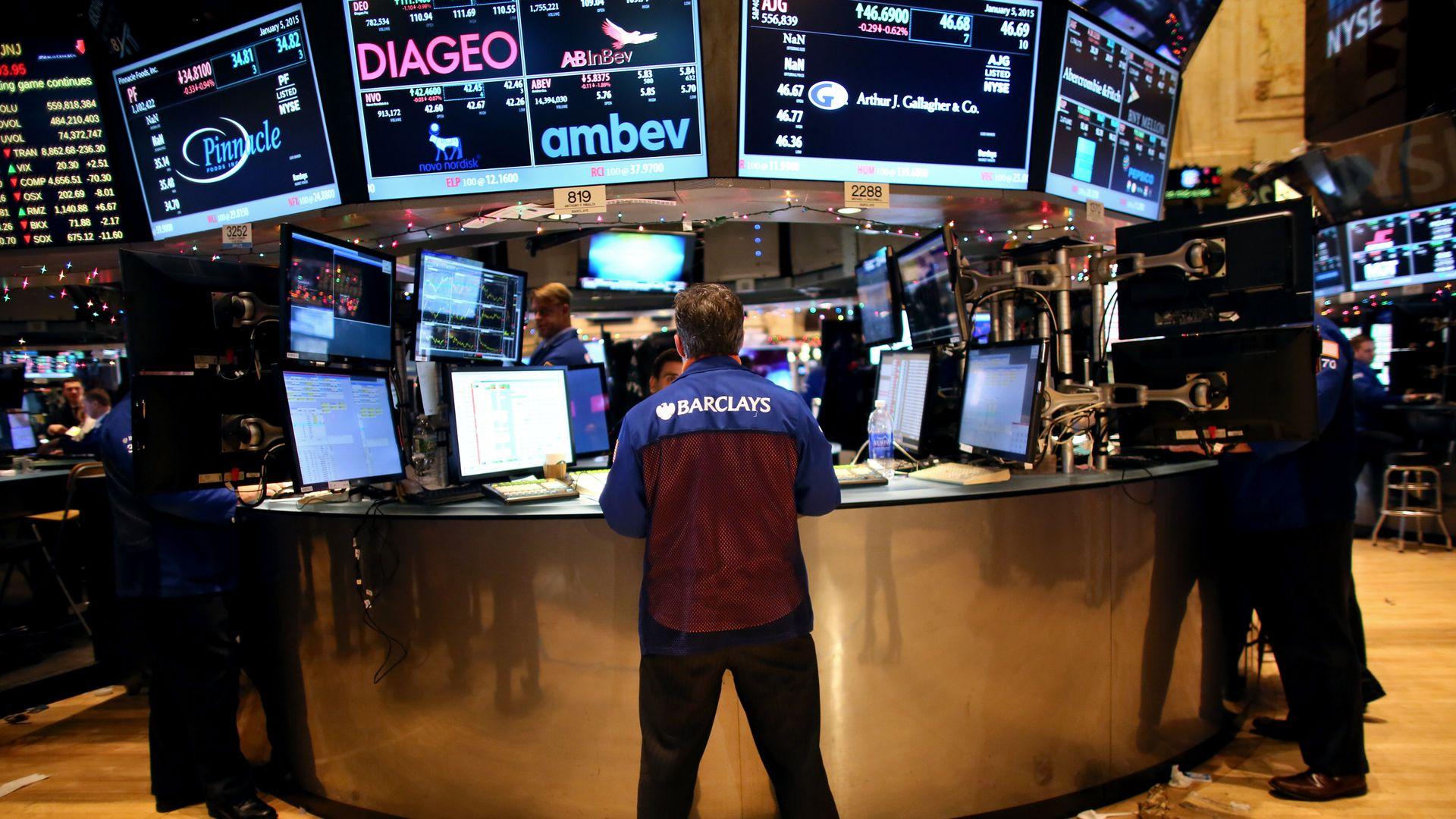Traders at NYSE