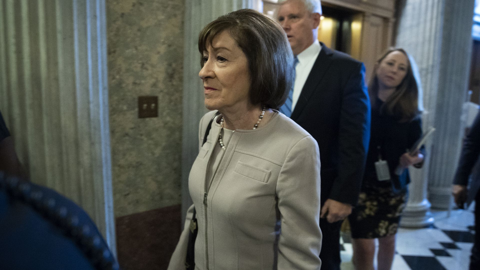 Susan Collins walking.