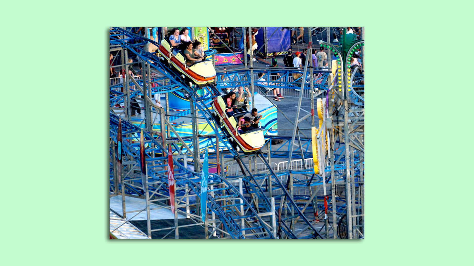 An image of a new roller coaster ride coming to the Minnesota State Fair this year.