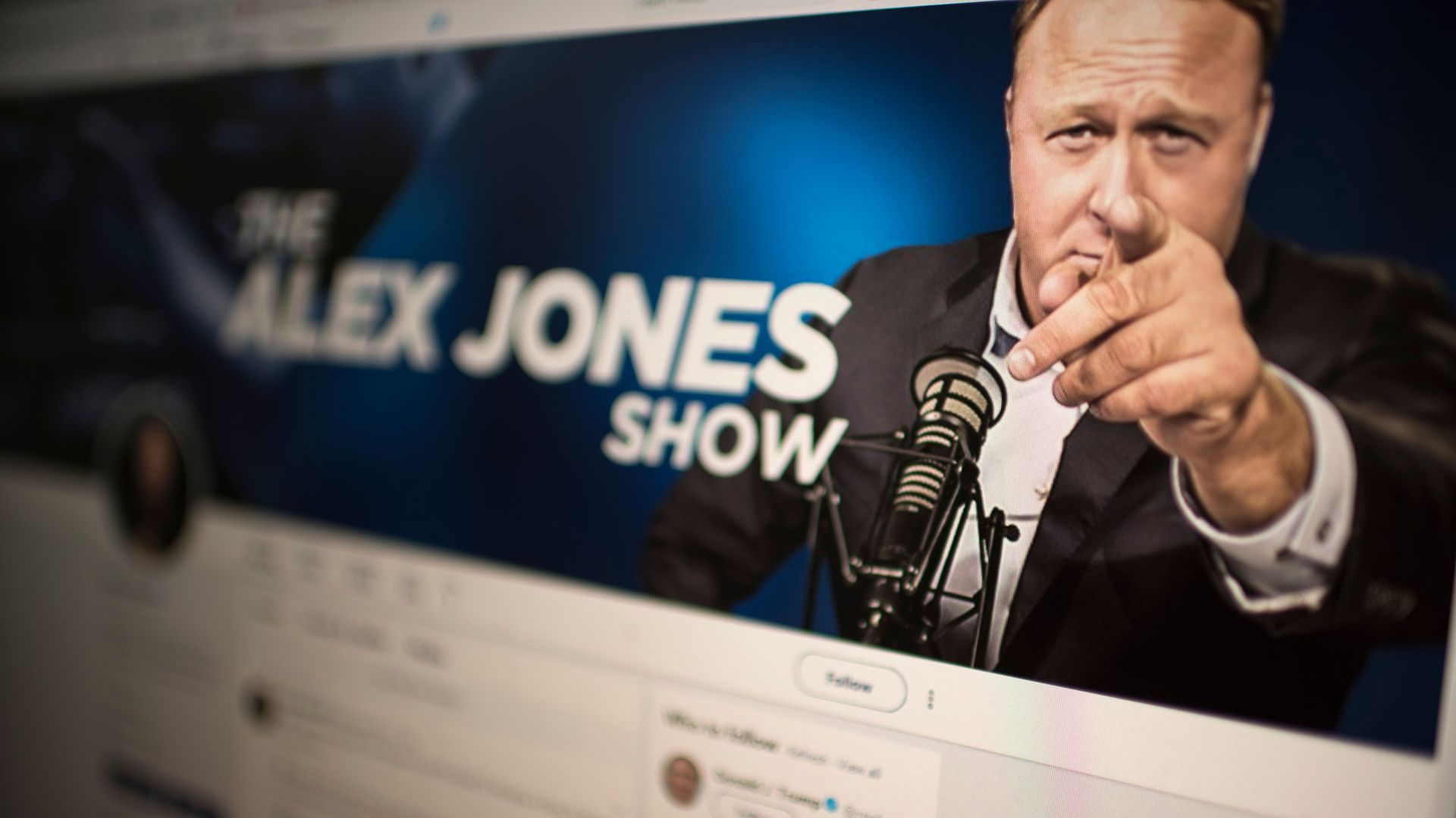The Alex Jones facebook page