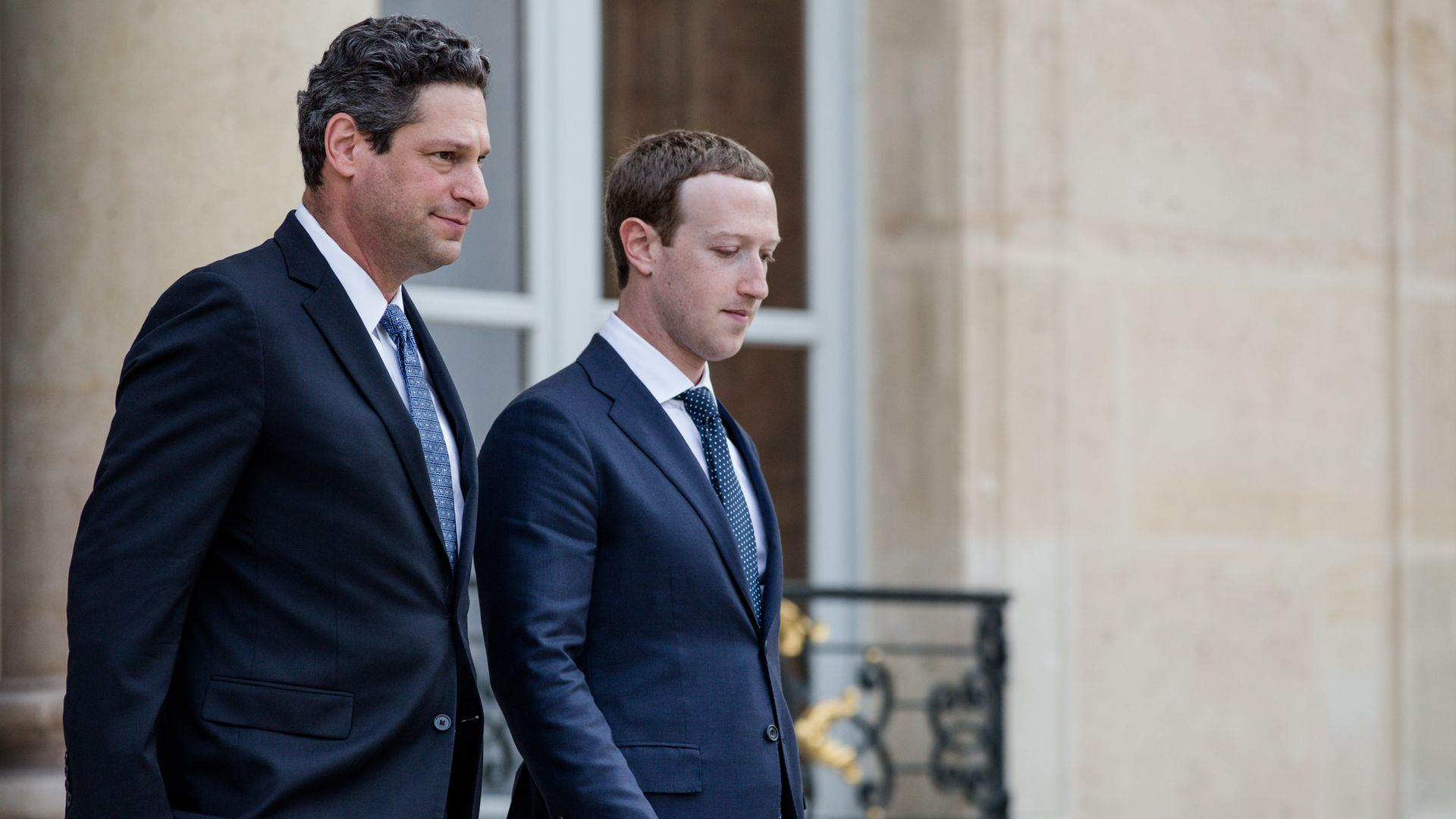 Joel Kaplan and Mark Zuckerberg walking
