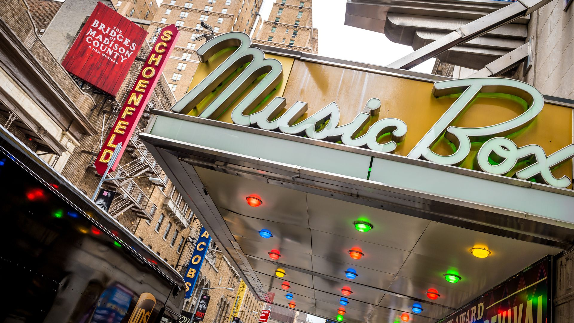 Several Broadway theaters owned by The Shubert Organization