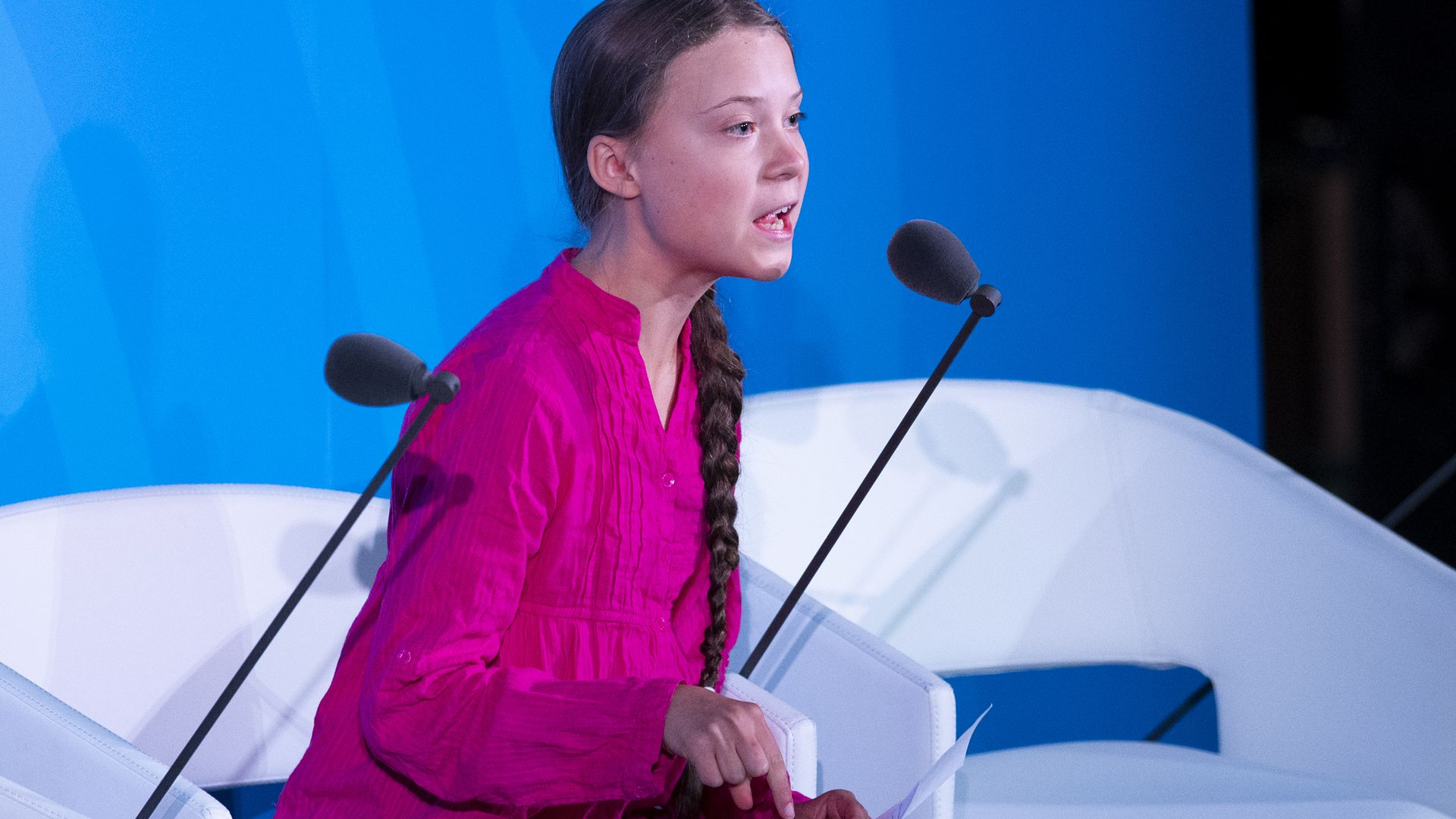 Teen Greta Thunberg speaks before the United Nations
