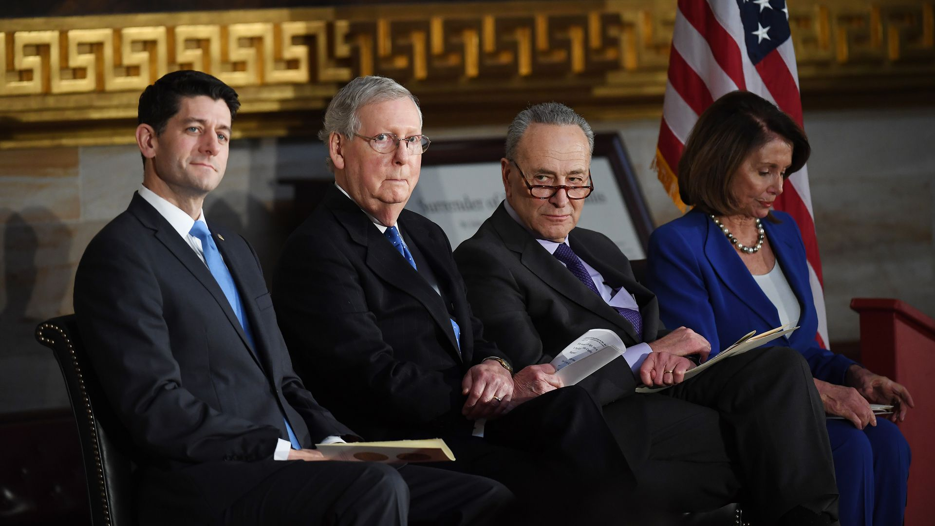 Paul Ryan, Mitch McConnell, Chuck Schumer and Nancy Pelosi