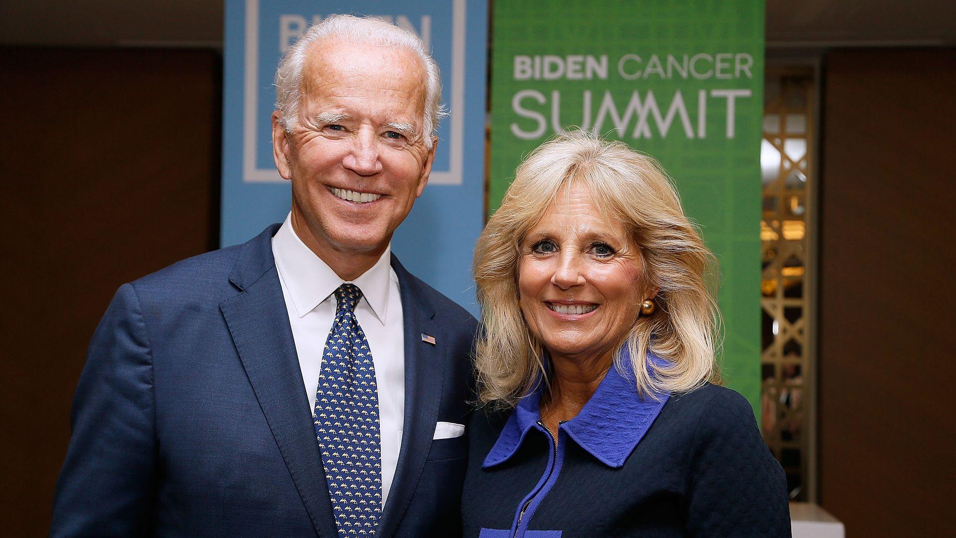 Former U.S. Vice President Joe Biden and his wife, Dr. Jill Biden.