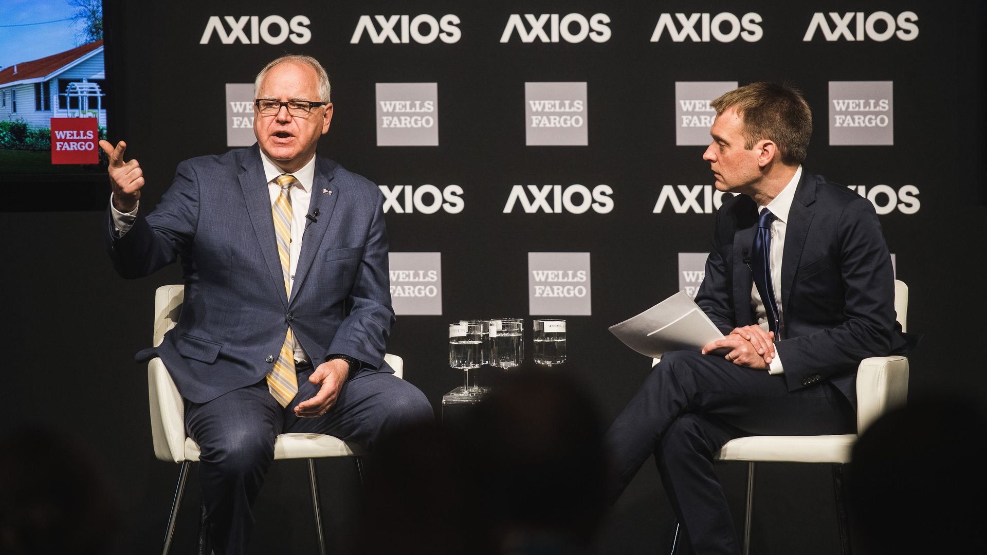 Governor of Minnesota, Tim Walz in conversation with Axios' Nick Johnston.