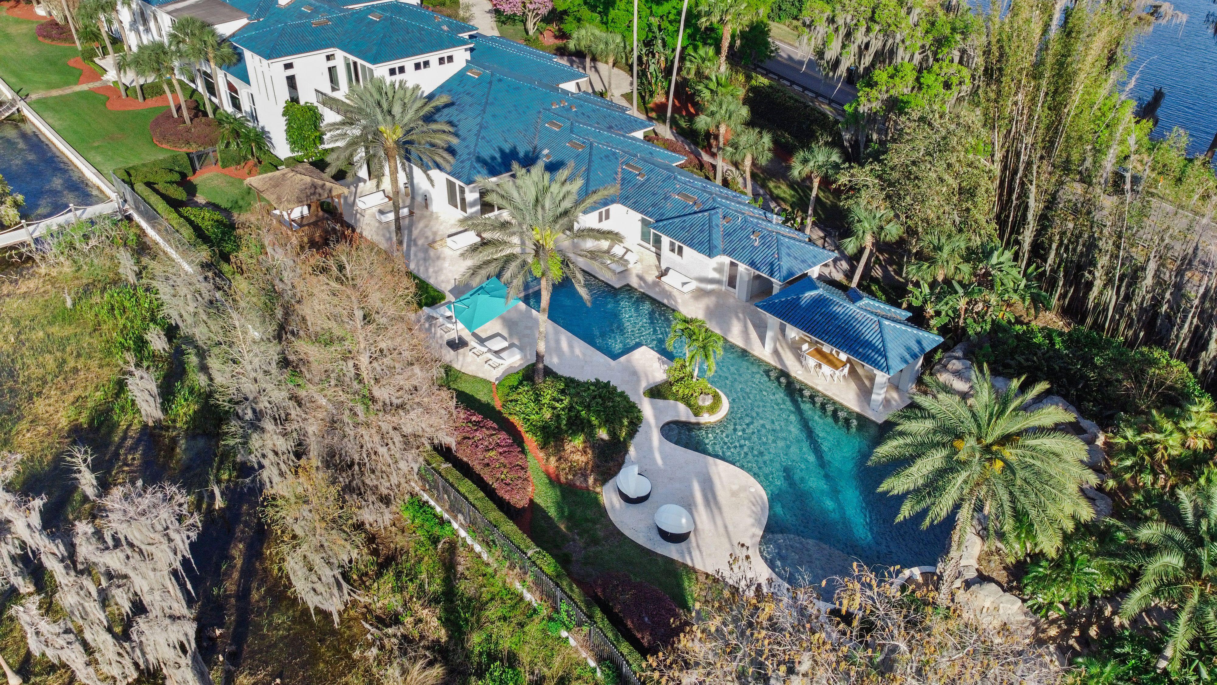 shaq's florida estate aerial