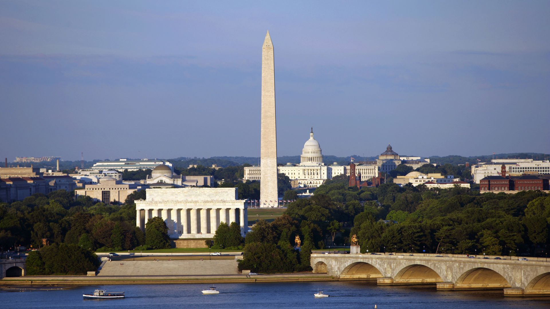 A panorama view of Washington, D.C.