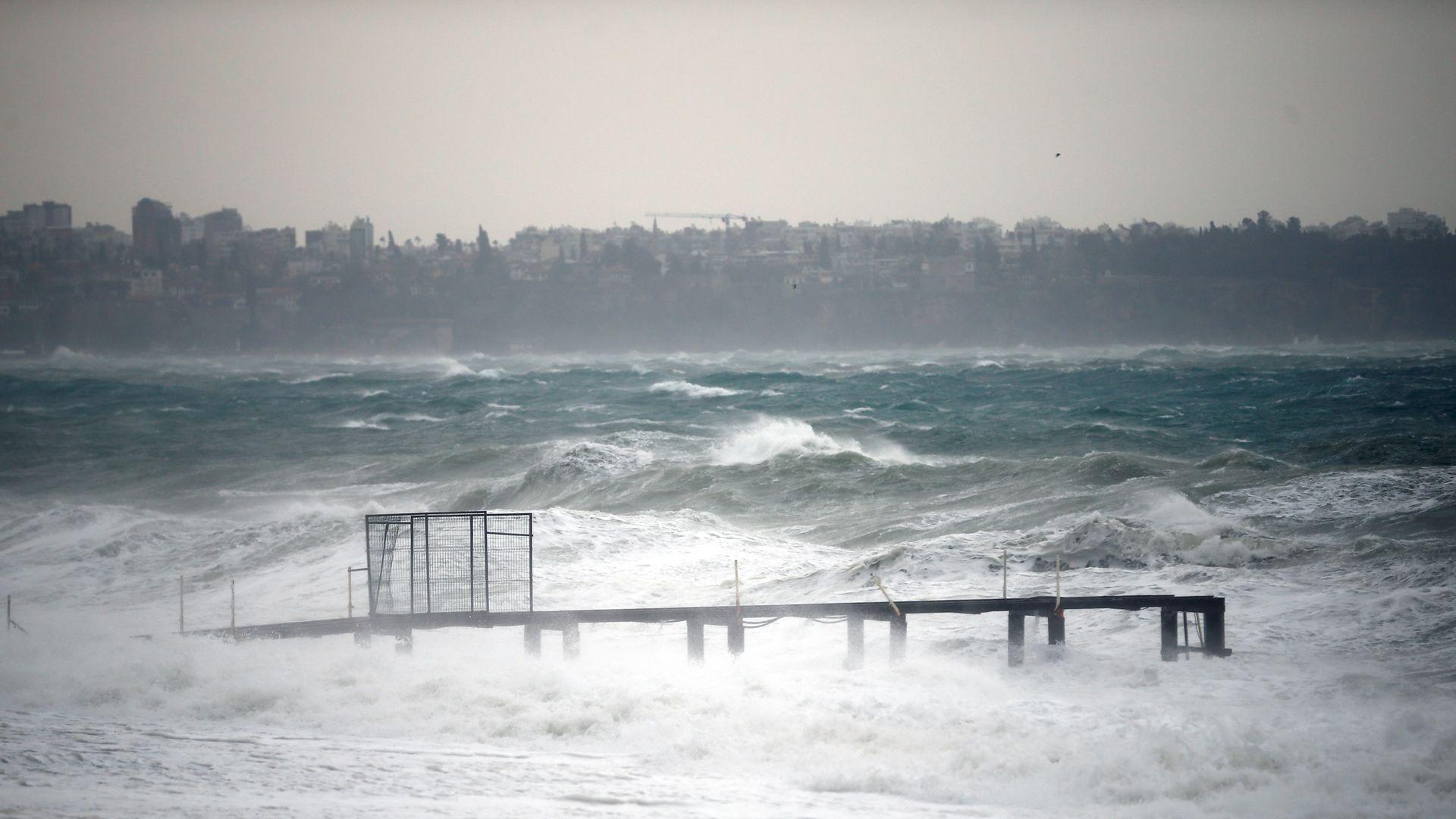 Antalya with heavy rain.