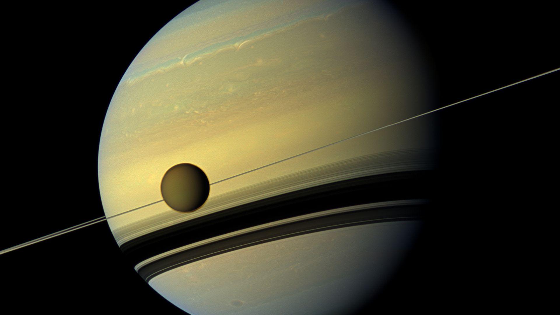Titan with Saturn
