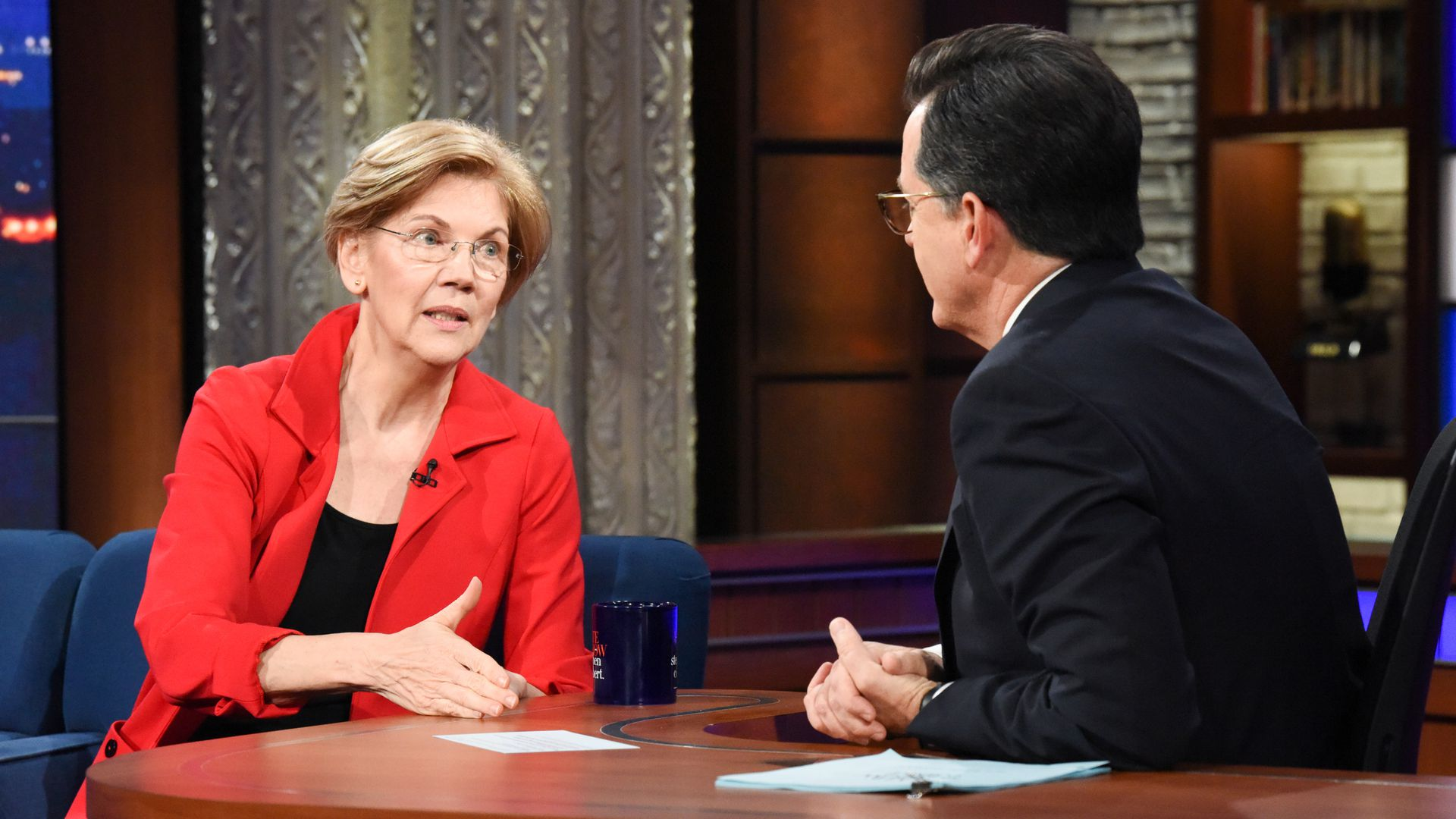 Elizabeth Warren told Stephen Colbert she doesn't think voters care about the Mueller report.