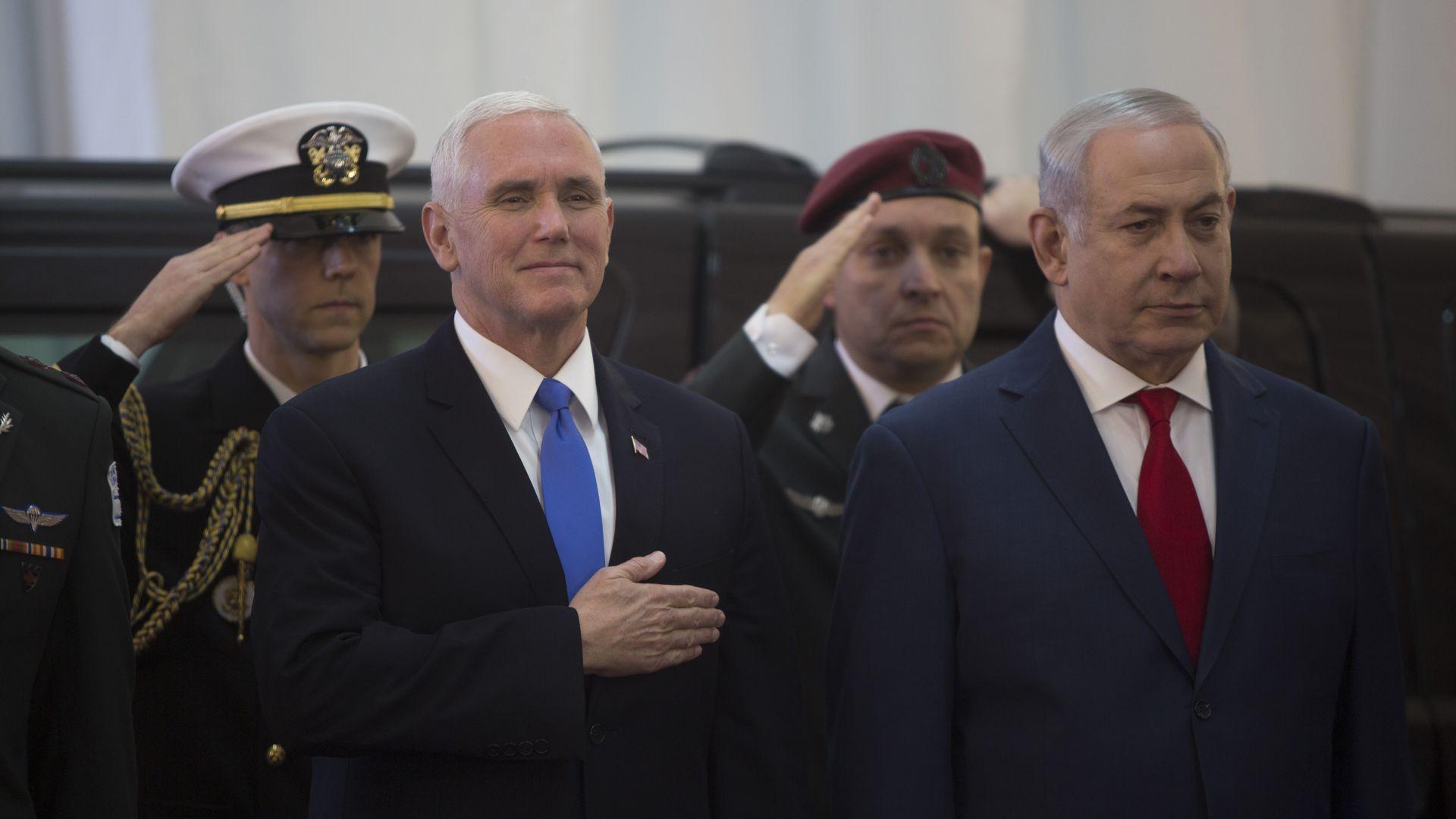 Vice President Mike Pence and Israeli Prime Minister Benjamin Netanyahu