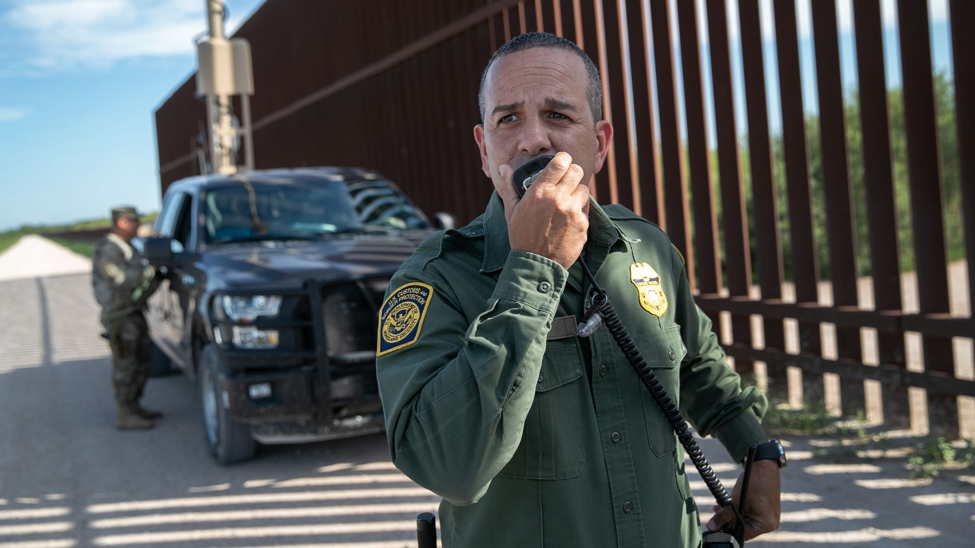 Border Patrol agent Carlos Ruiz spots undocumented immigrants.