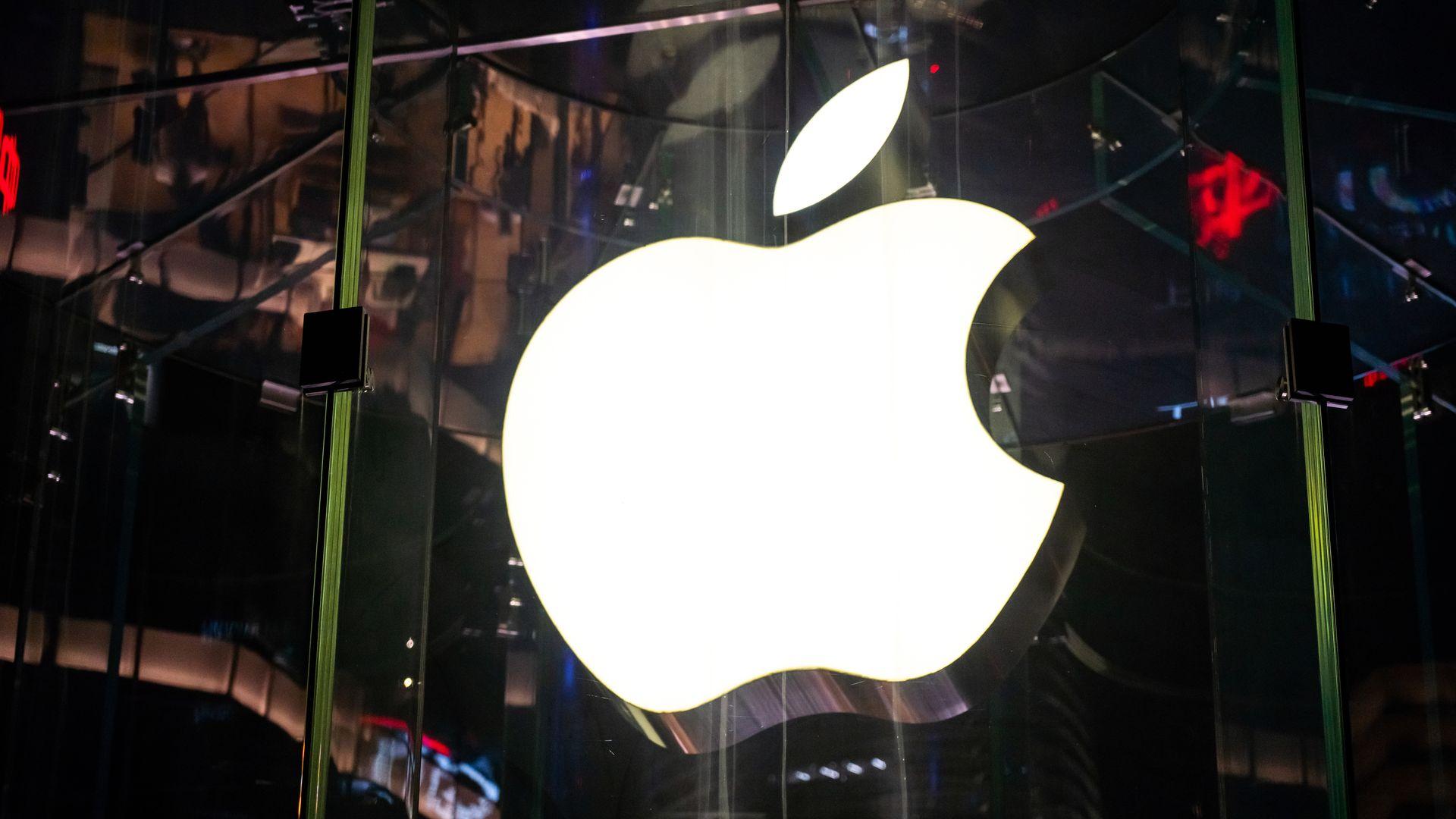 Apple Inc. logo on a storefront