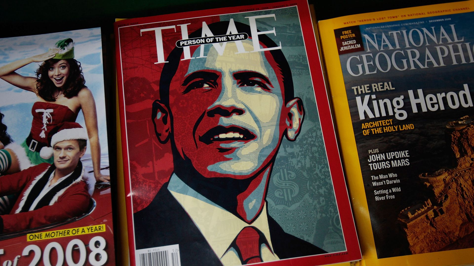 Cover of Time magazine in 2008. Photo: Chris Hondros/Getty Images