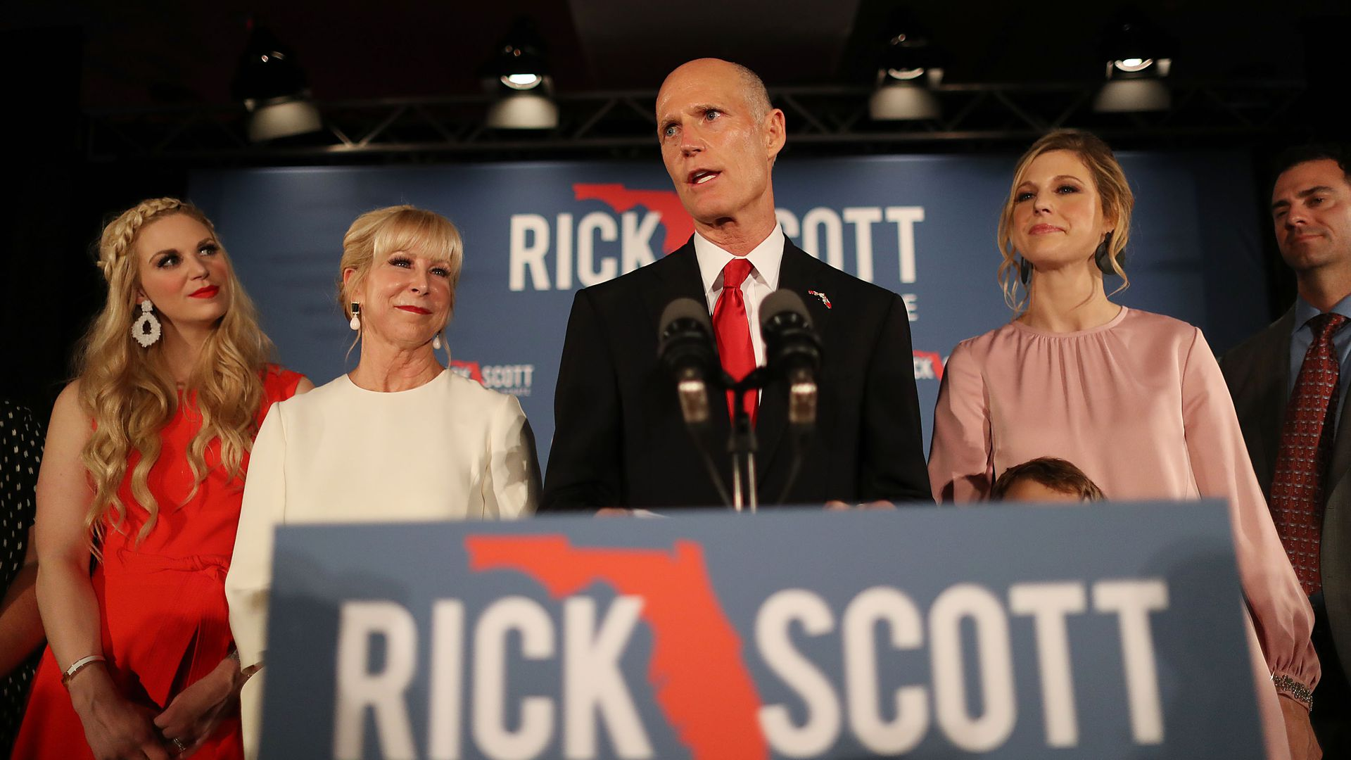 Governor Rick Scott at campaign speech
