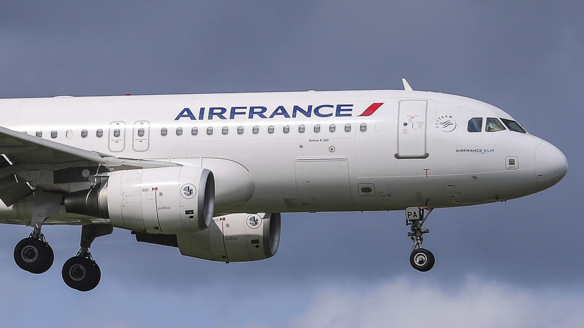 an AirFrance plane mid-flight