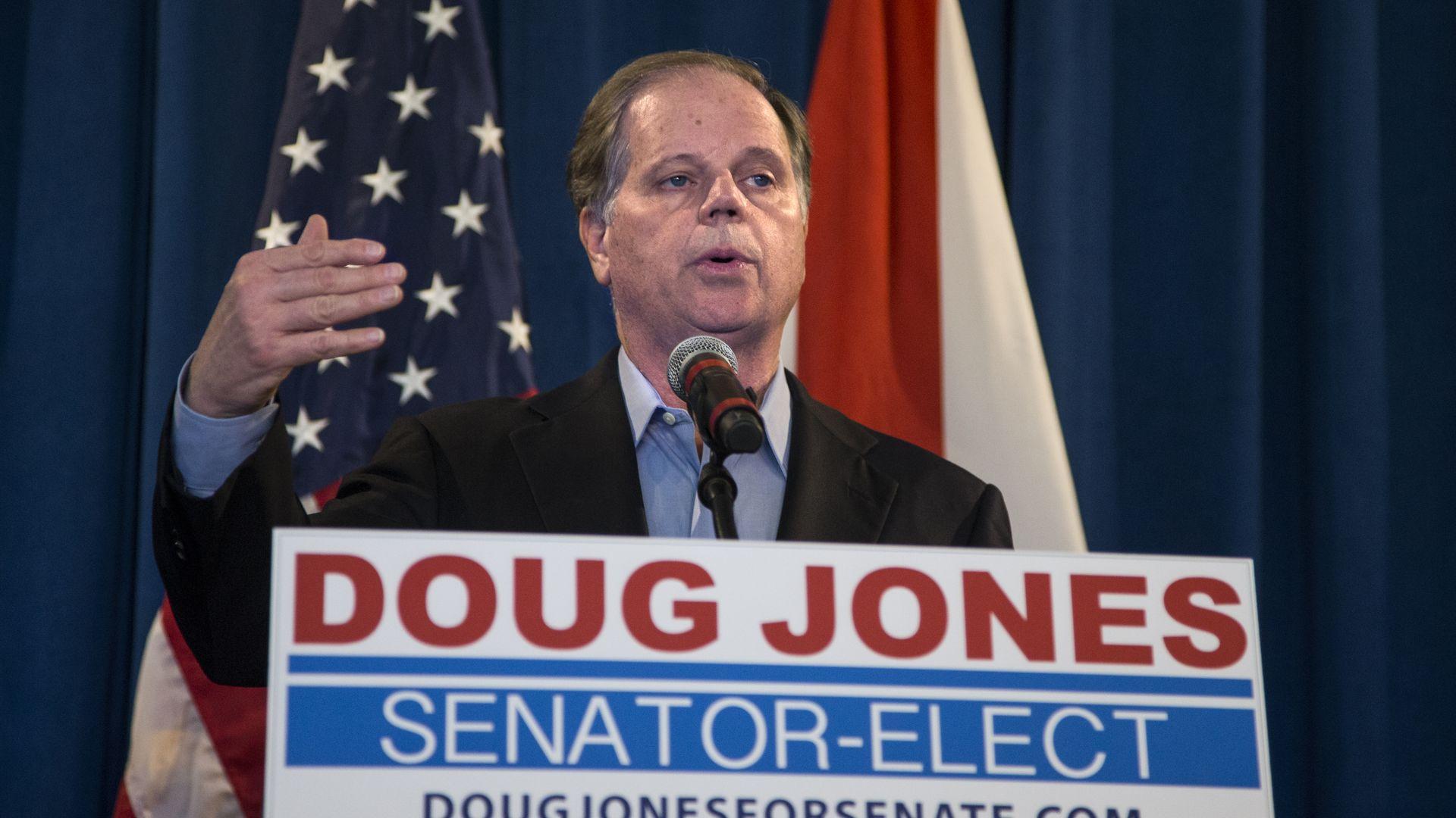 Doug Jones (D-AL). Photo: Mark Wallheiser/Getty Images
