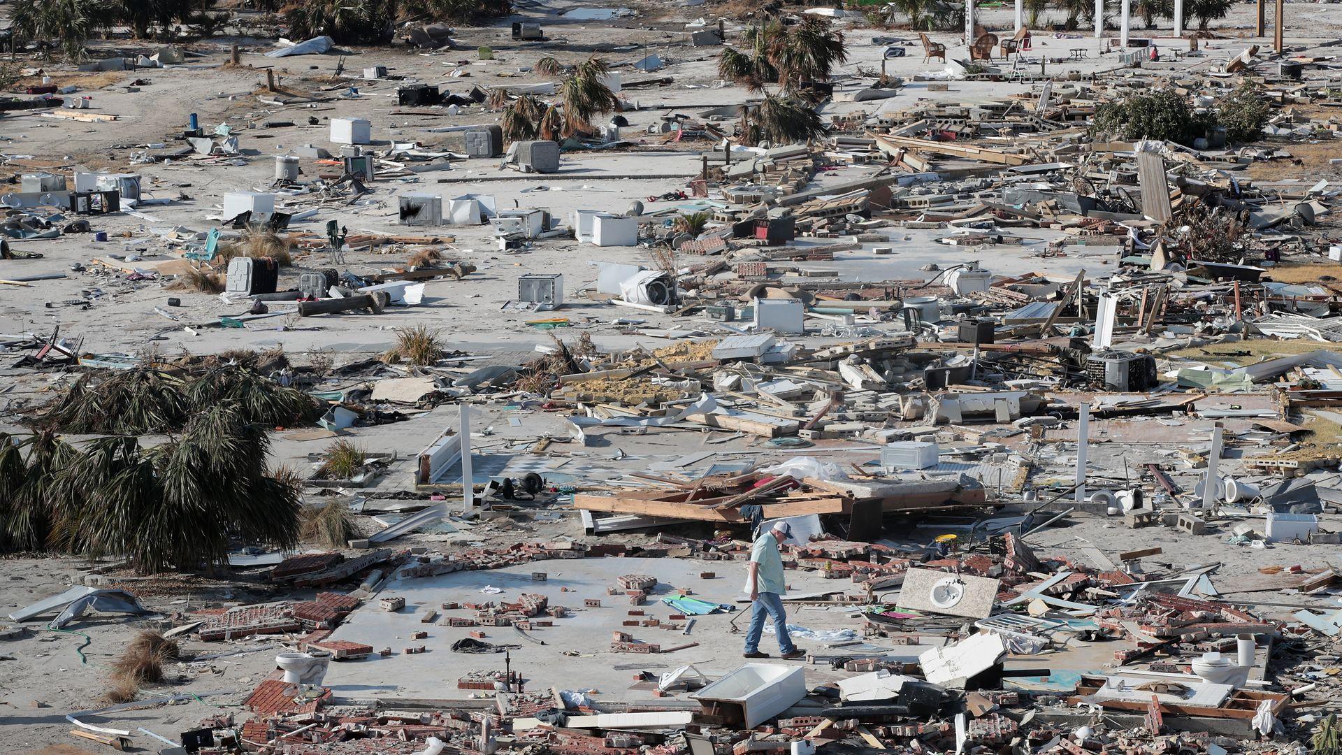 Hurricane ravaged Florida