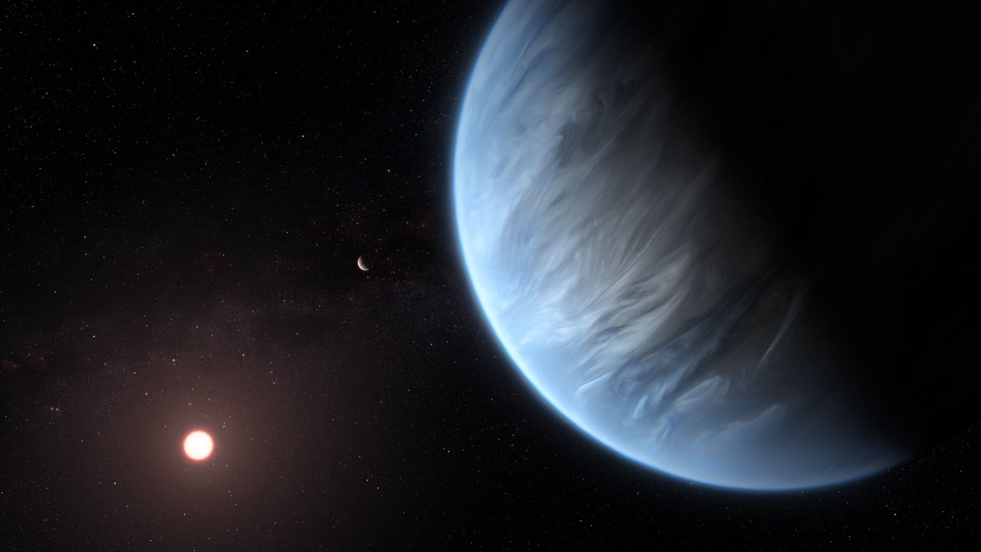 Artist's illustration of a planet 110 light-years from Earth.