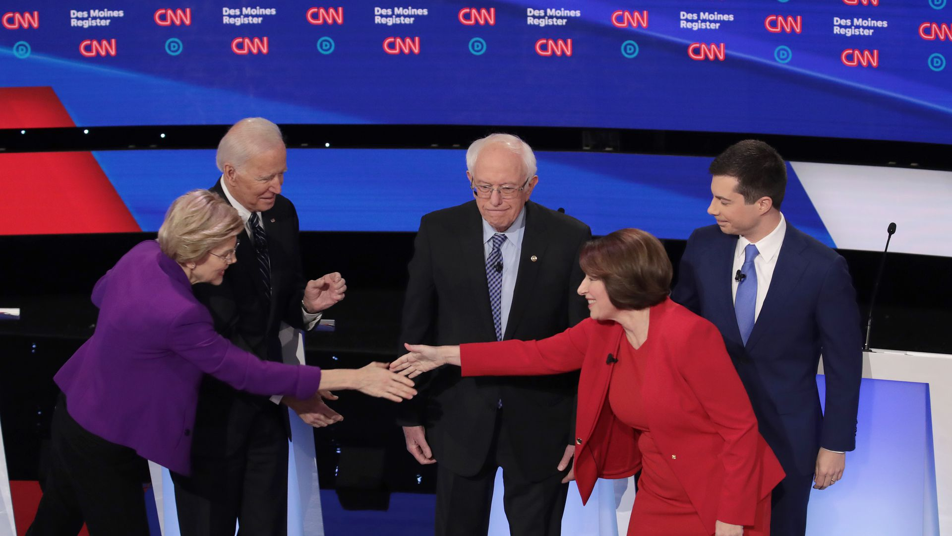 Democratic candidates at the debate