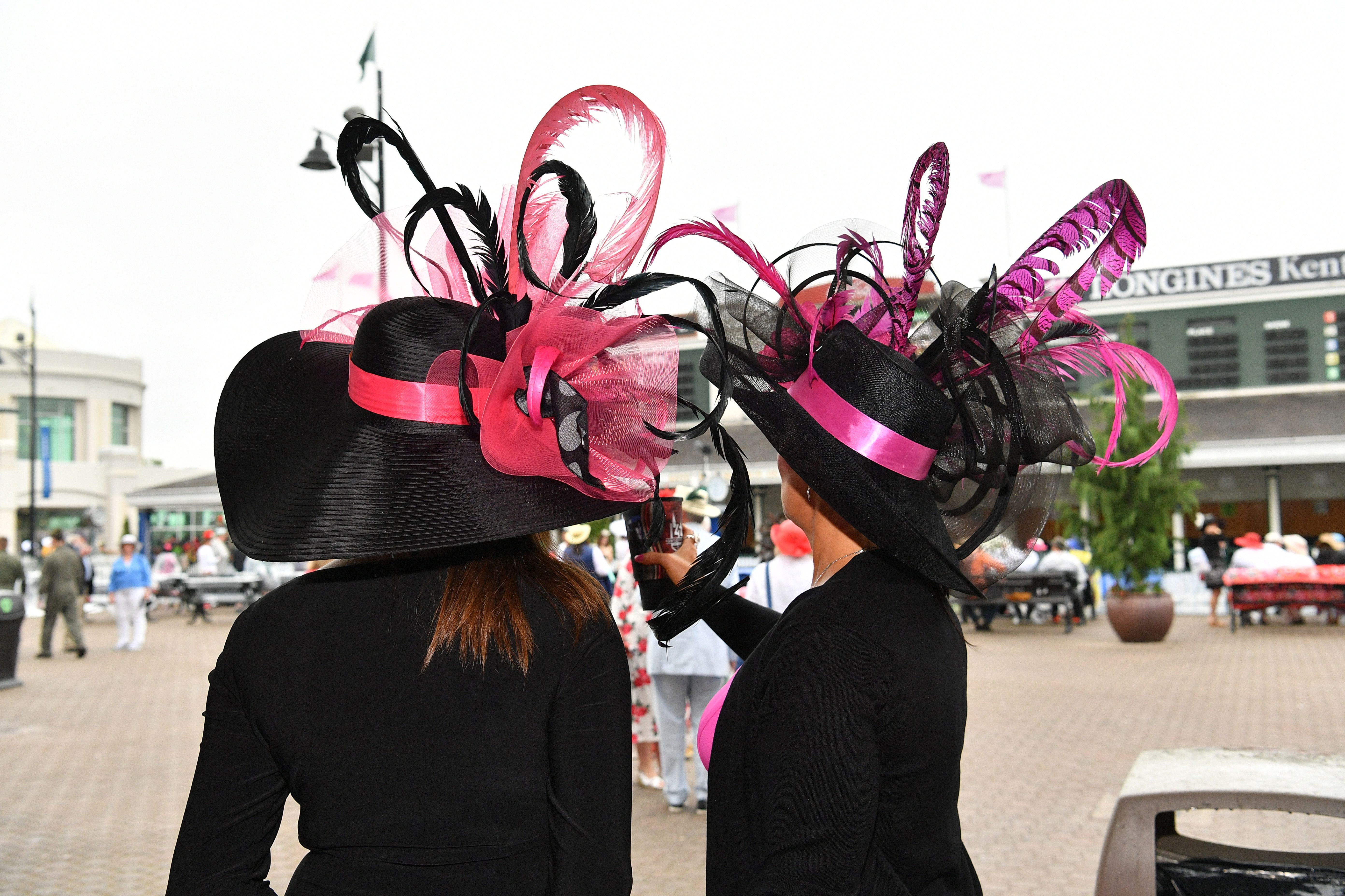 Ornate hats at the Kentucky Derby.