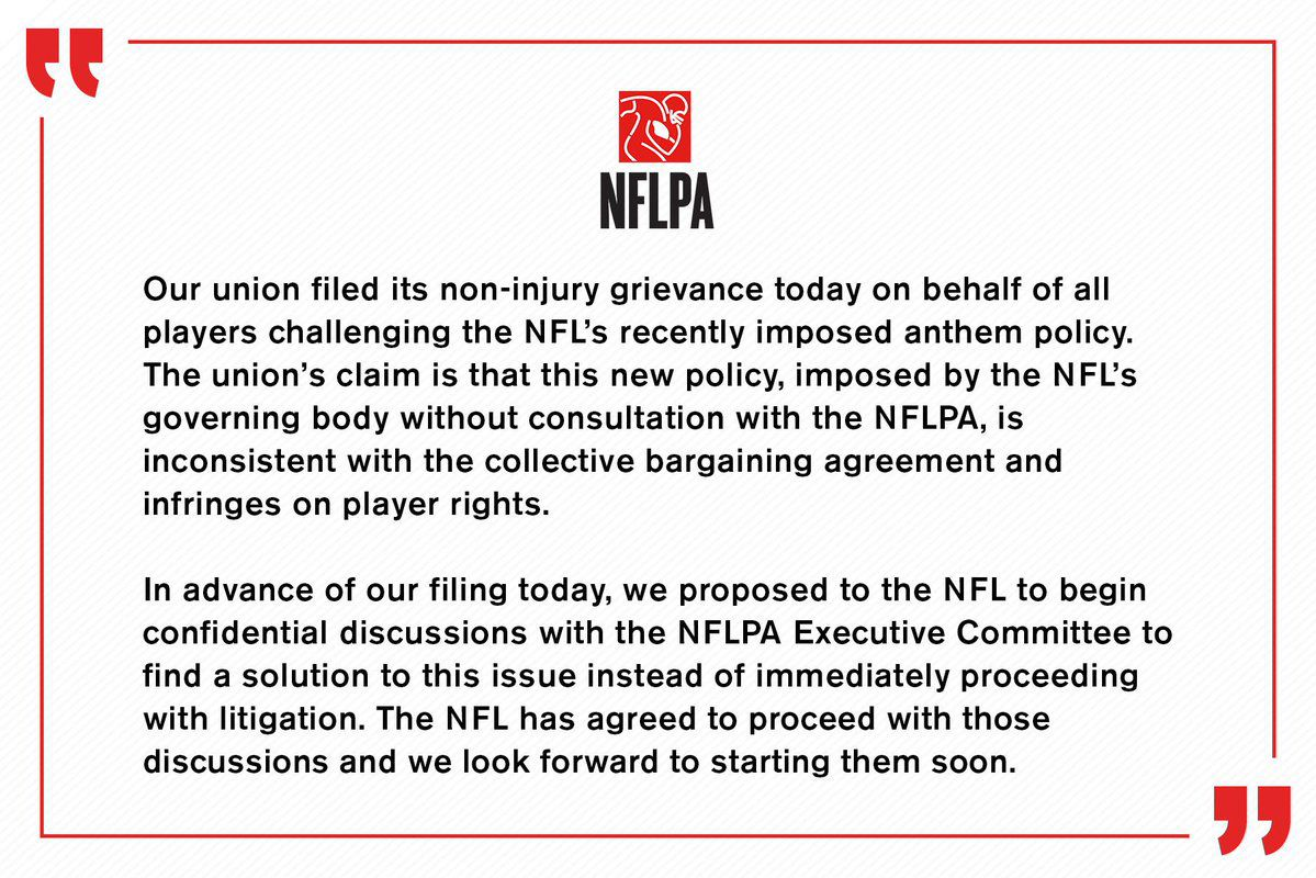 The Nfl Players Association Is Challenging The Leagues National