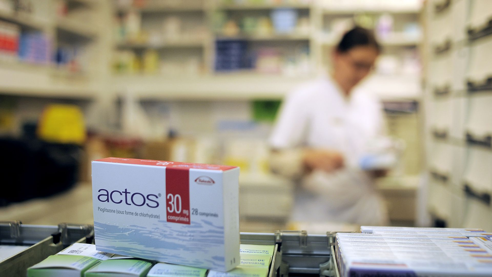 A package of Actos, a drug made by Takeda.