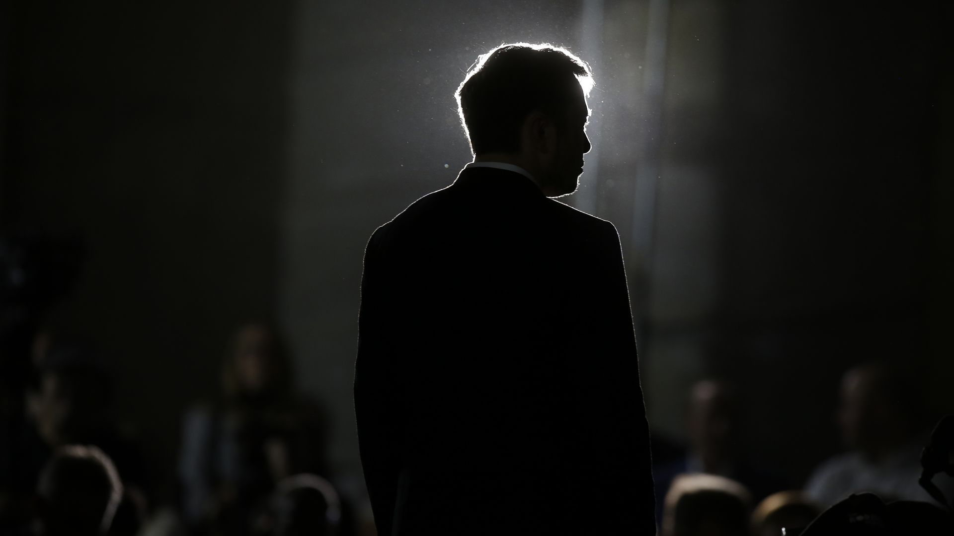 The silhouette of Elon Musk.