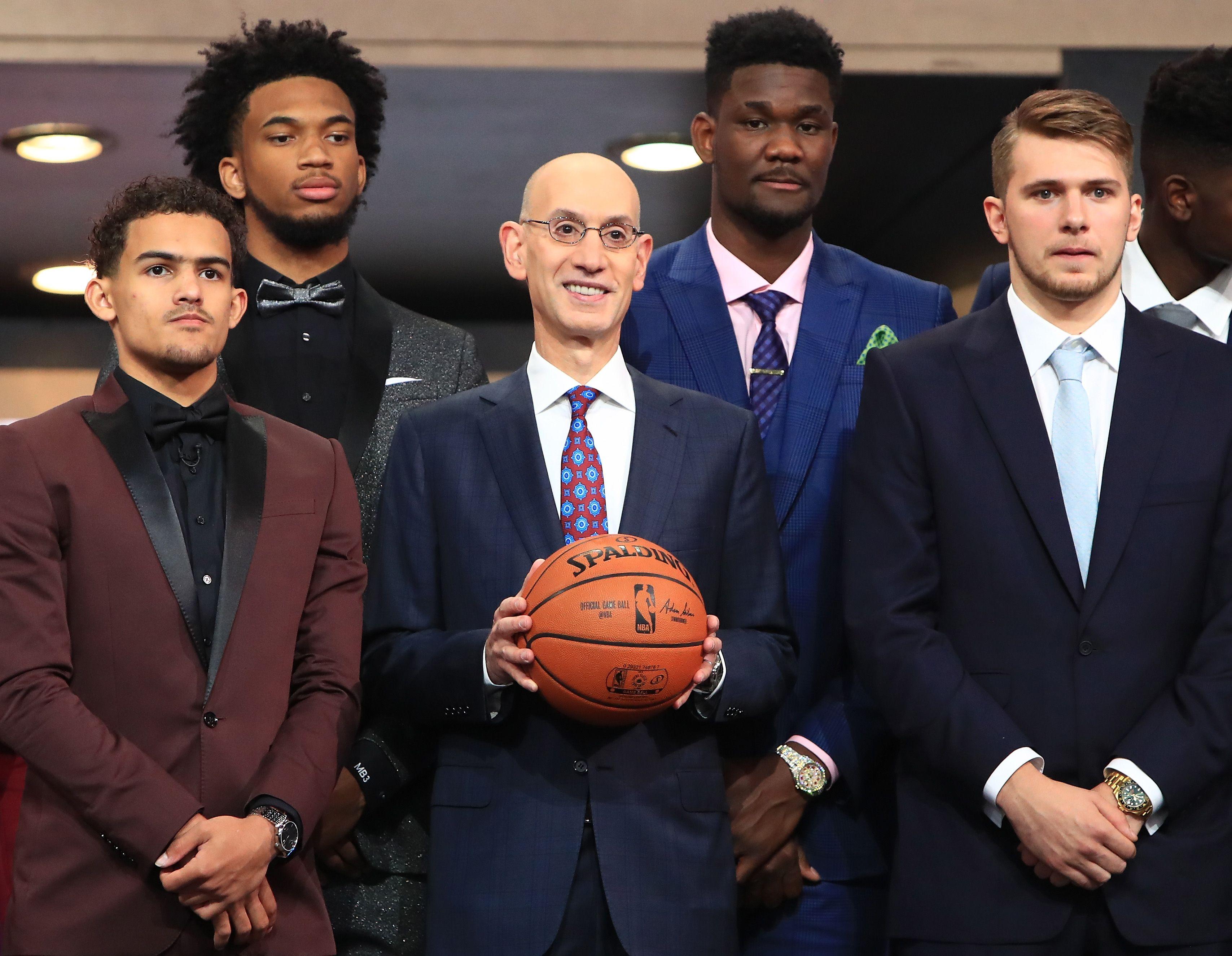 2018 NBA rookies on draft night