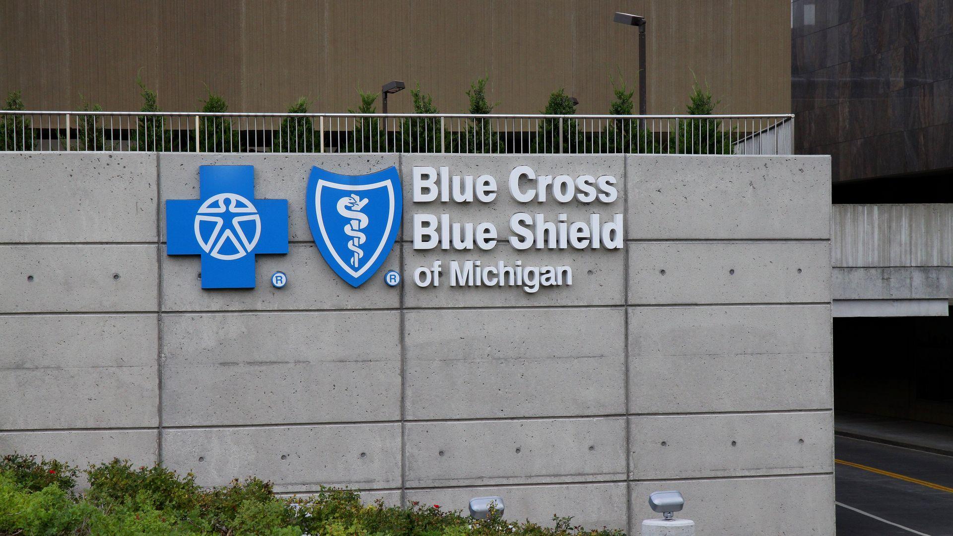 Blue Cross Blue Shield of Michigan headquarters in Detroit.