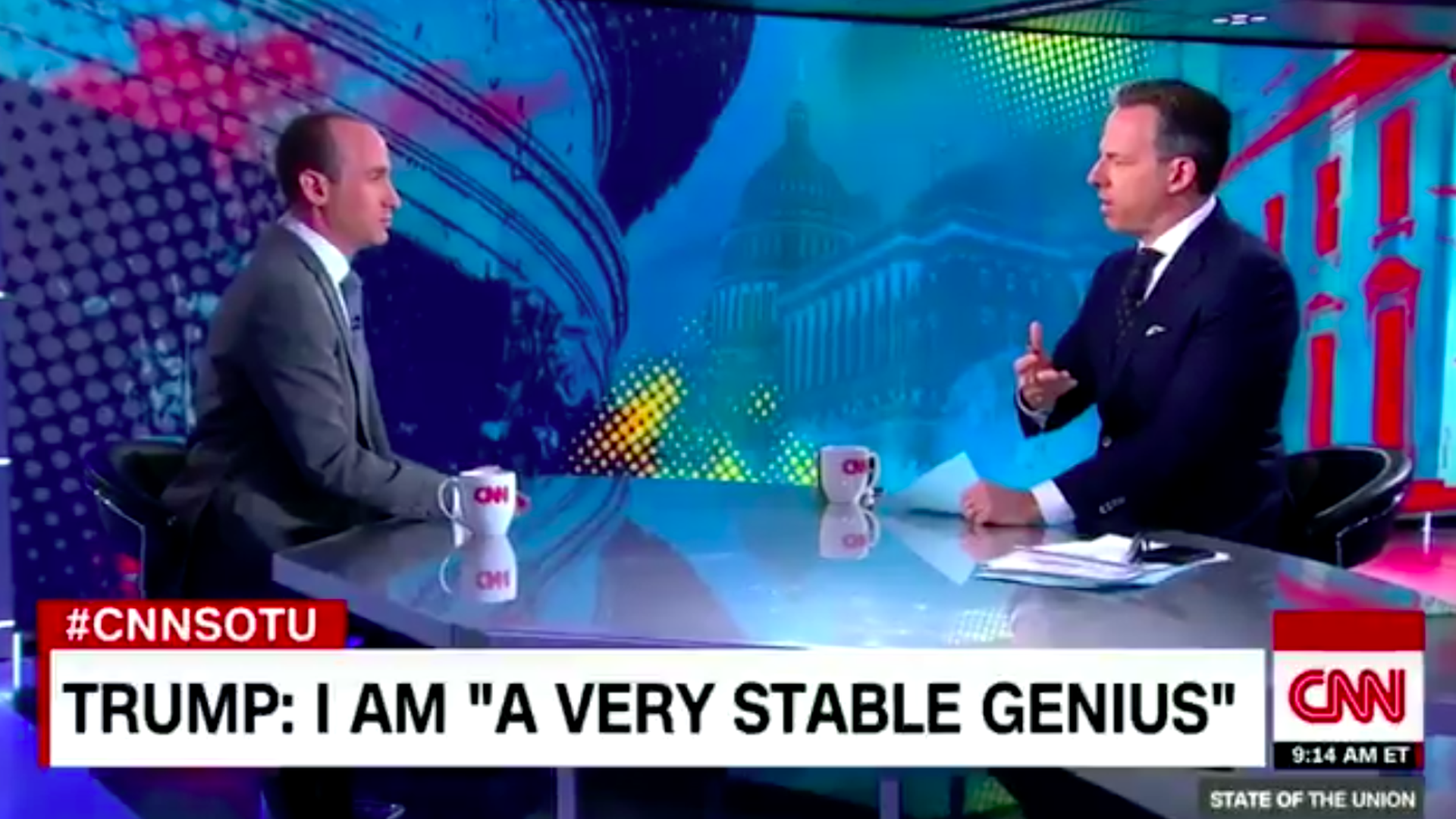 Stephen Miller and Jake Tapper argue Sunday morning on CNN