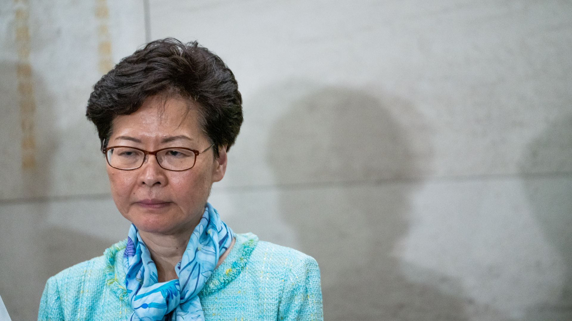 Carrie Lam, Hong Kong's chief executive, speaks during a news conference on July 2