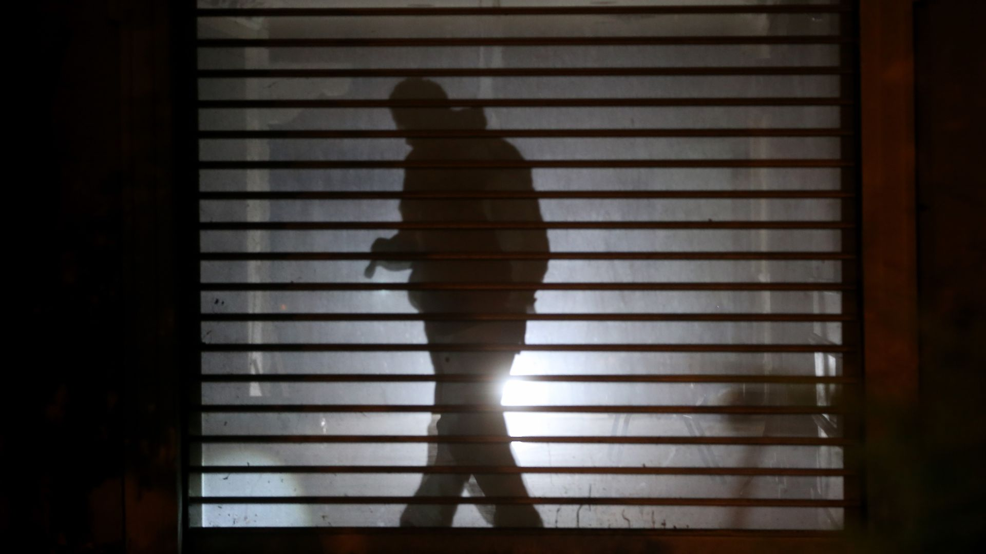 A silhouette of a Turkish investigator in the Jamal Khashoggi case