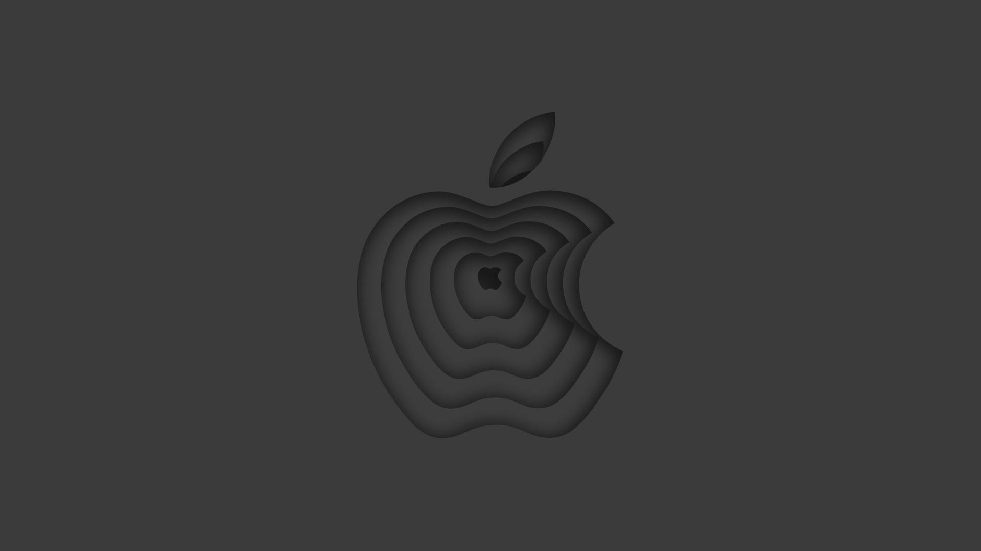 Illustration of a receding Apple logo