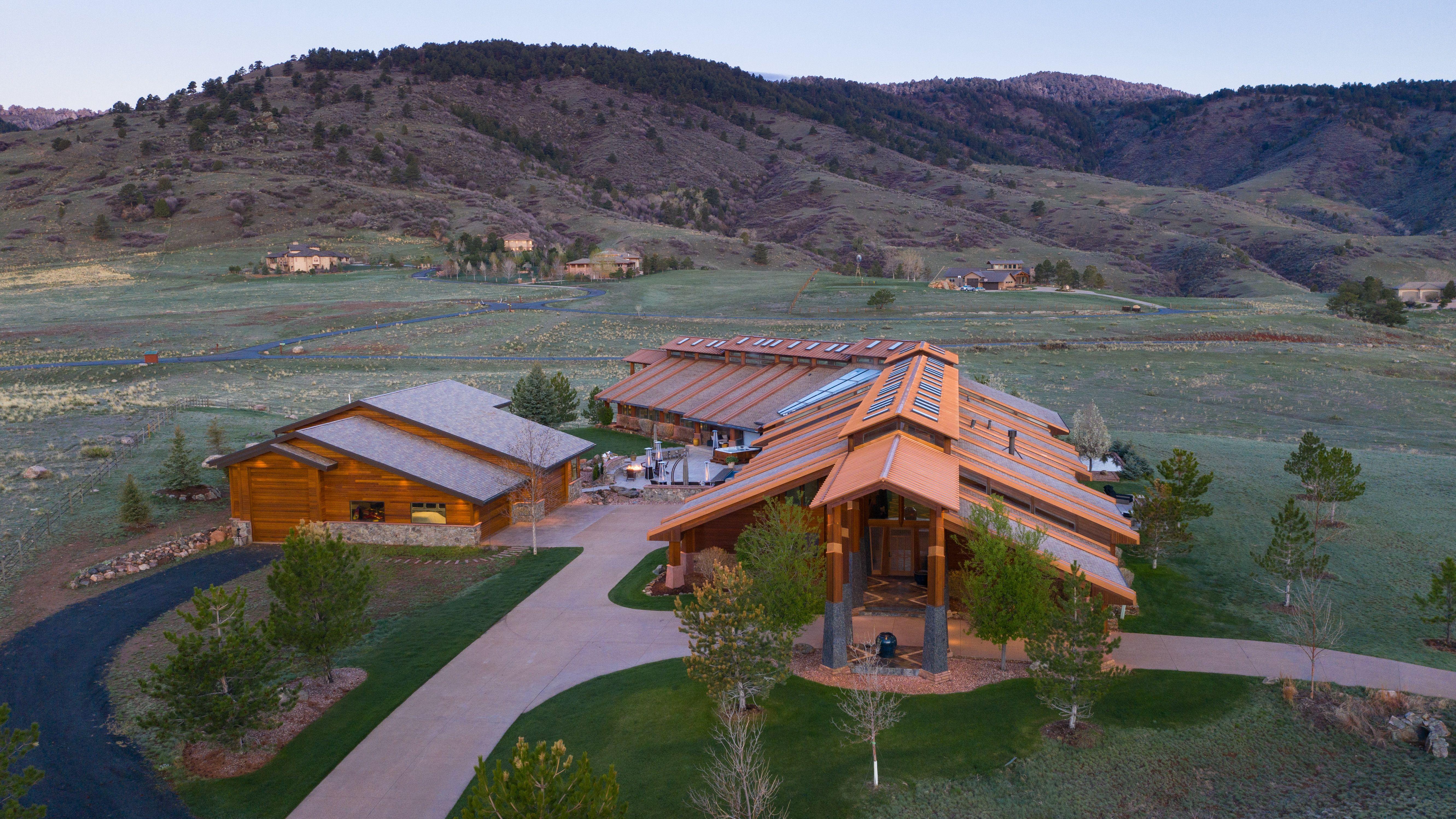 Colorado Mountain house on 35 acres asks $7M exterior views