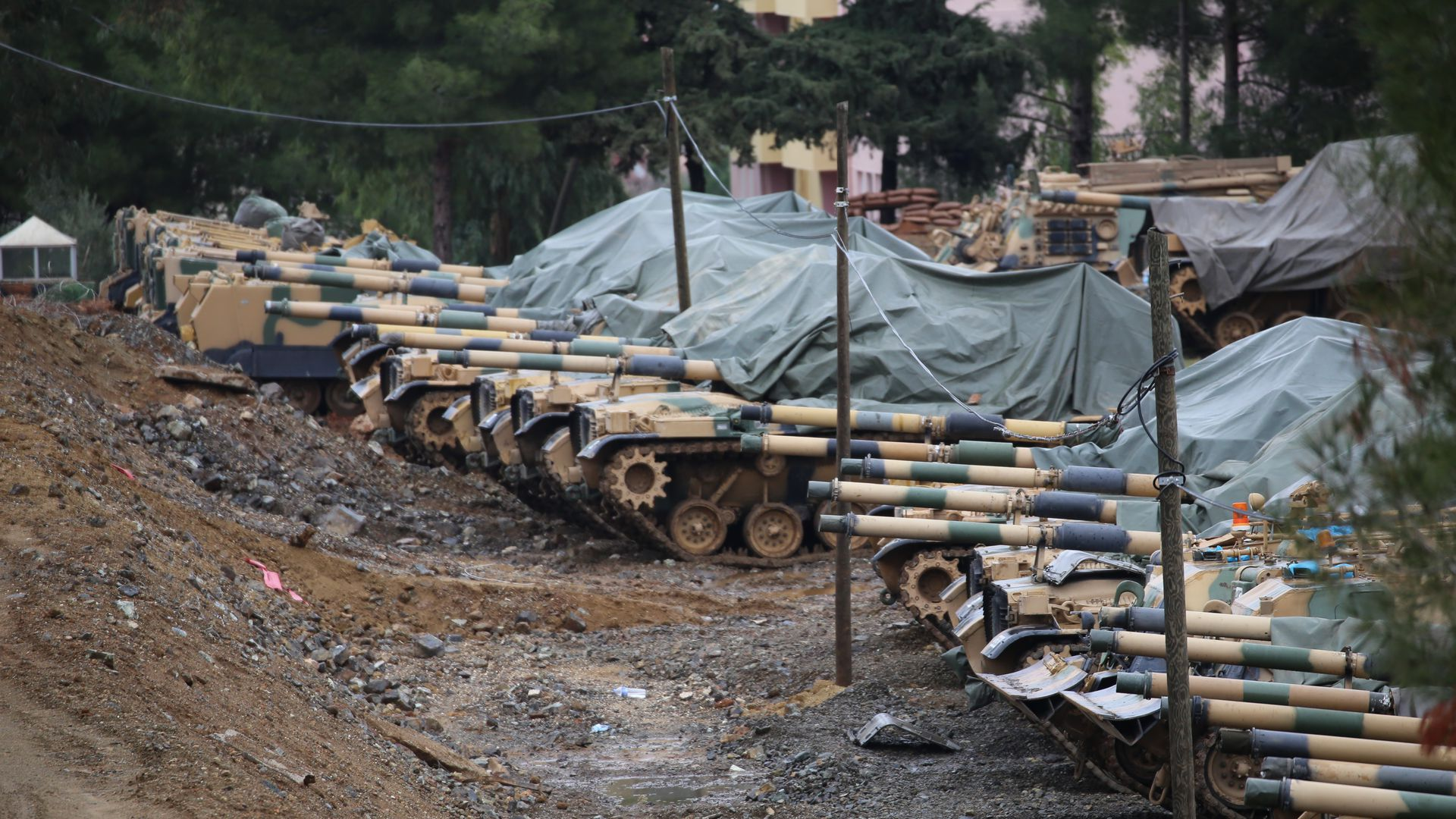 Turkish army tanks.
