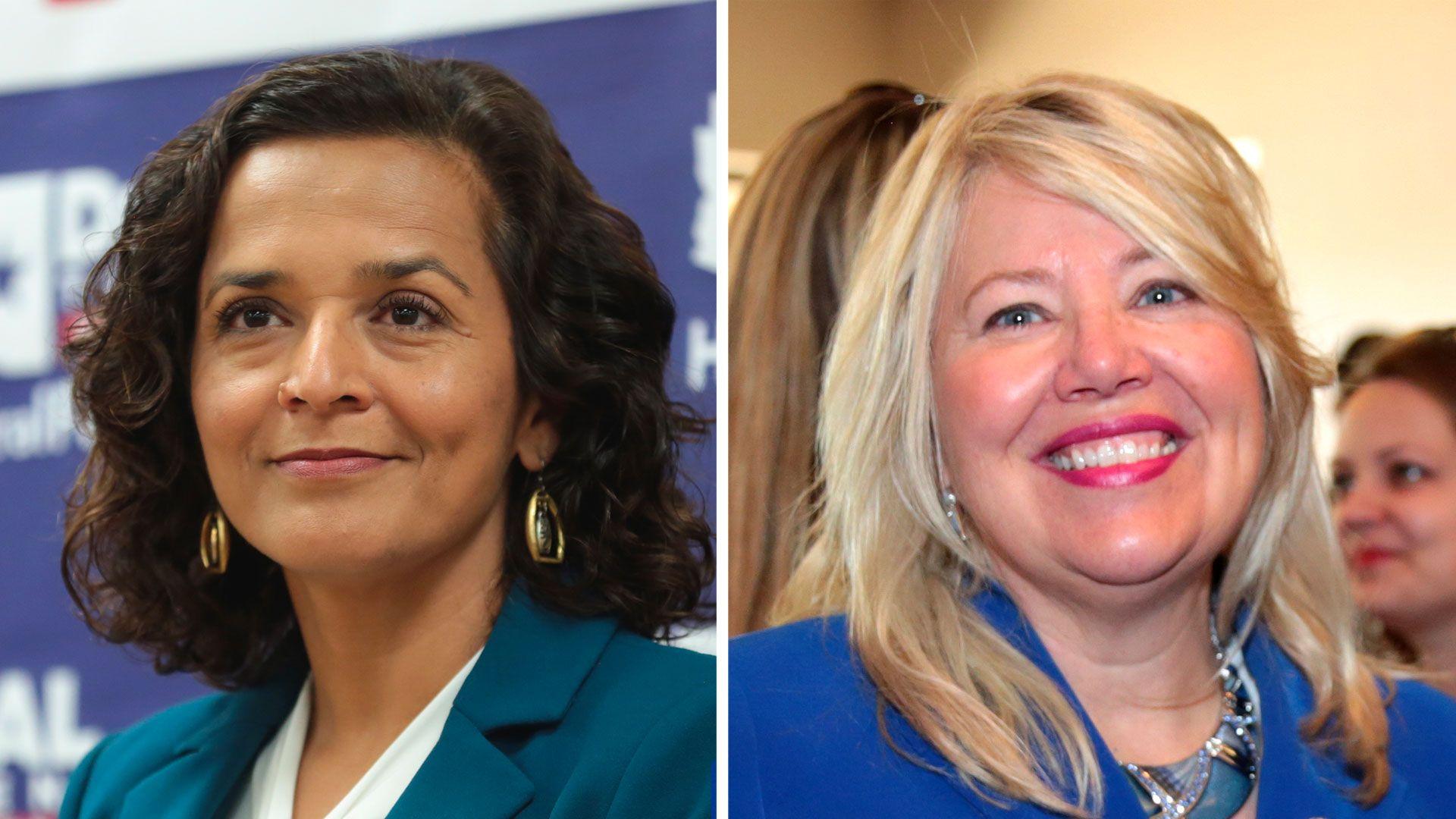 Democratic candidate Hiral Tipirneni and Republican candidate Debbie Lesko