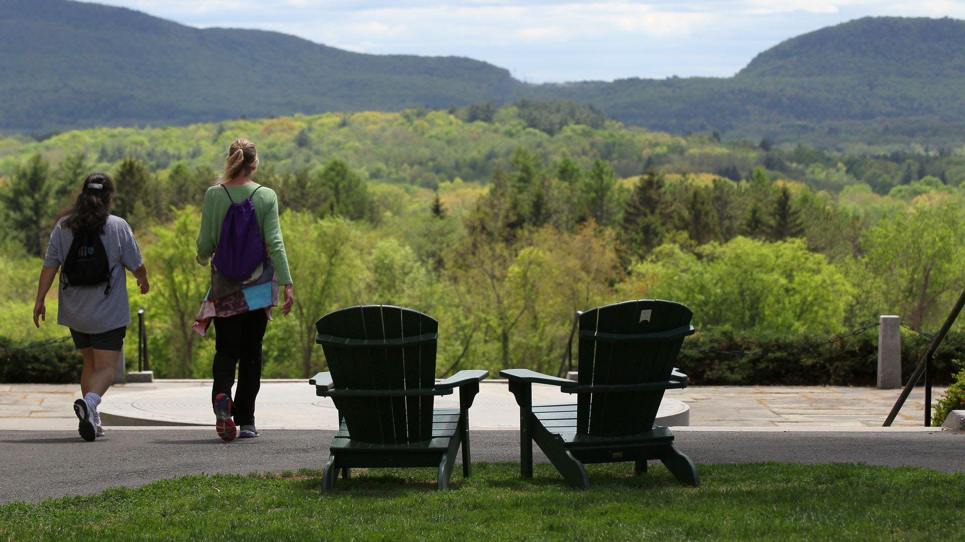 Amherst College campus. Photo: Joanne Rathe/The Boston Globe via Getty Images