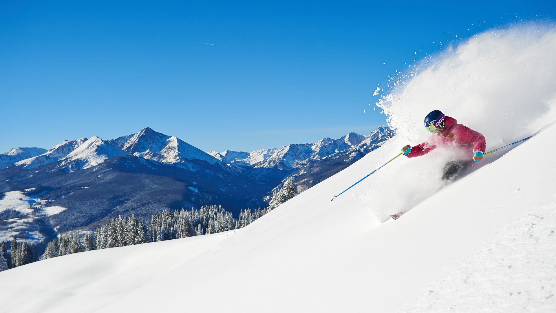 A skier at Vail Resorts