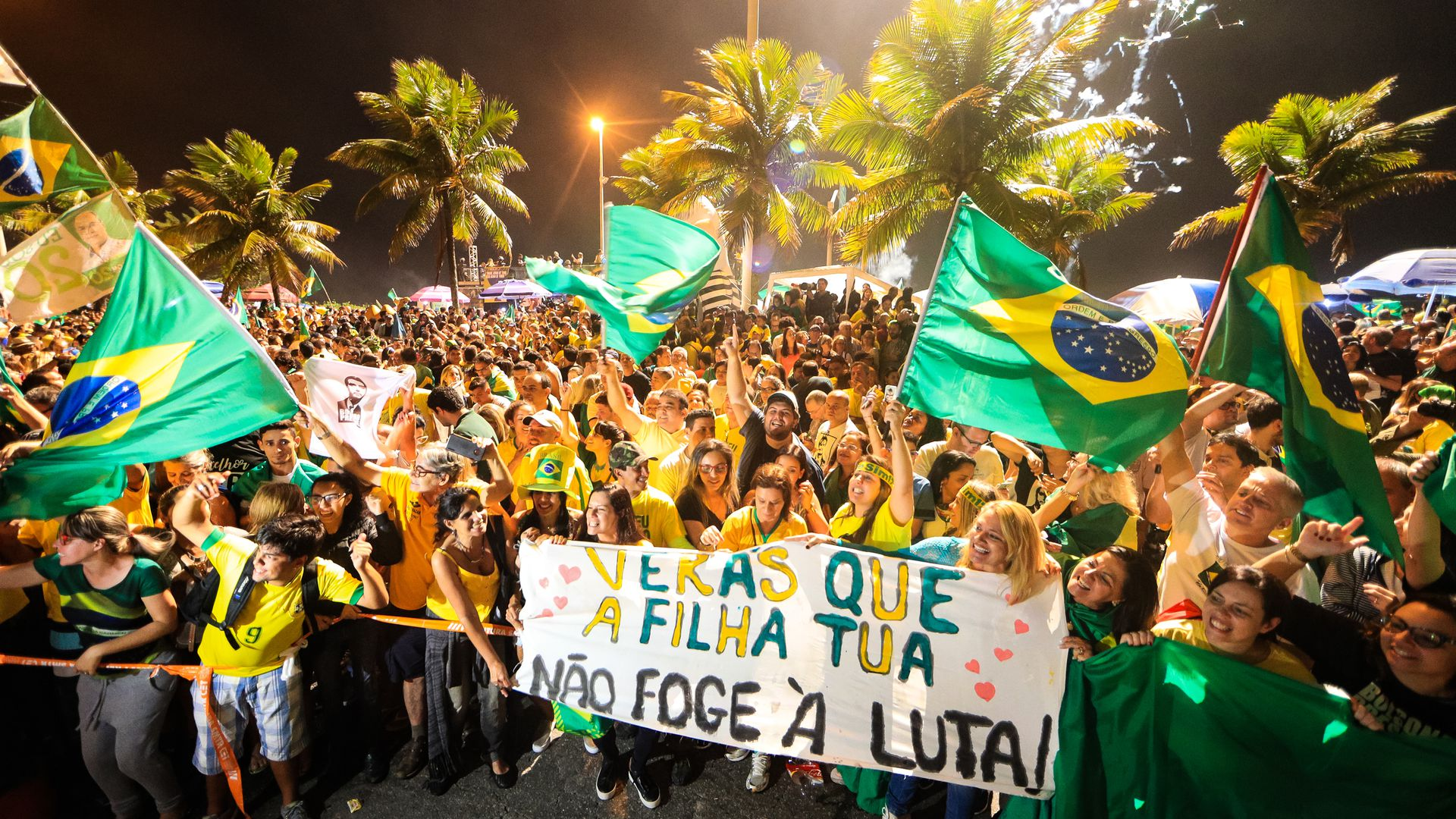 Jair Bolsonaro supporters celebrate