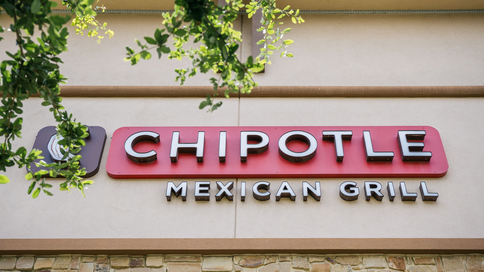 A photo of the Chipotle logo