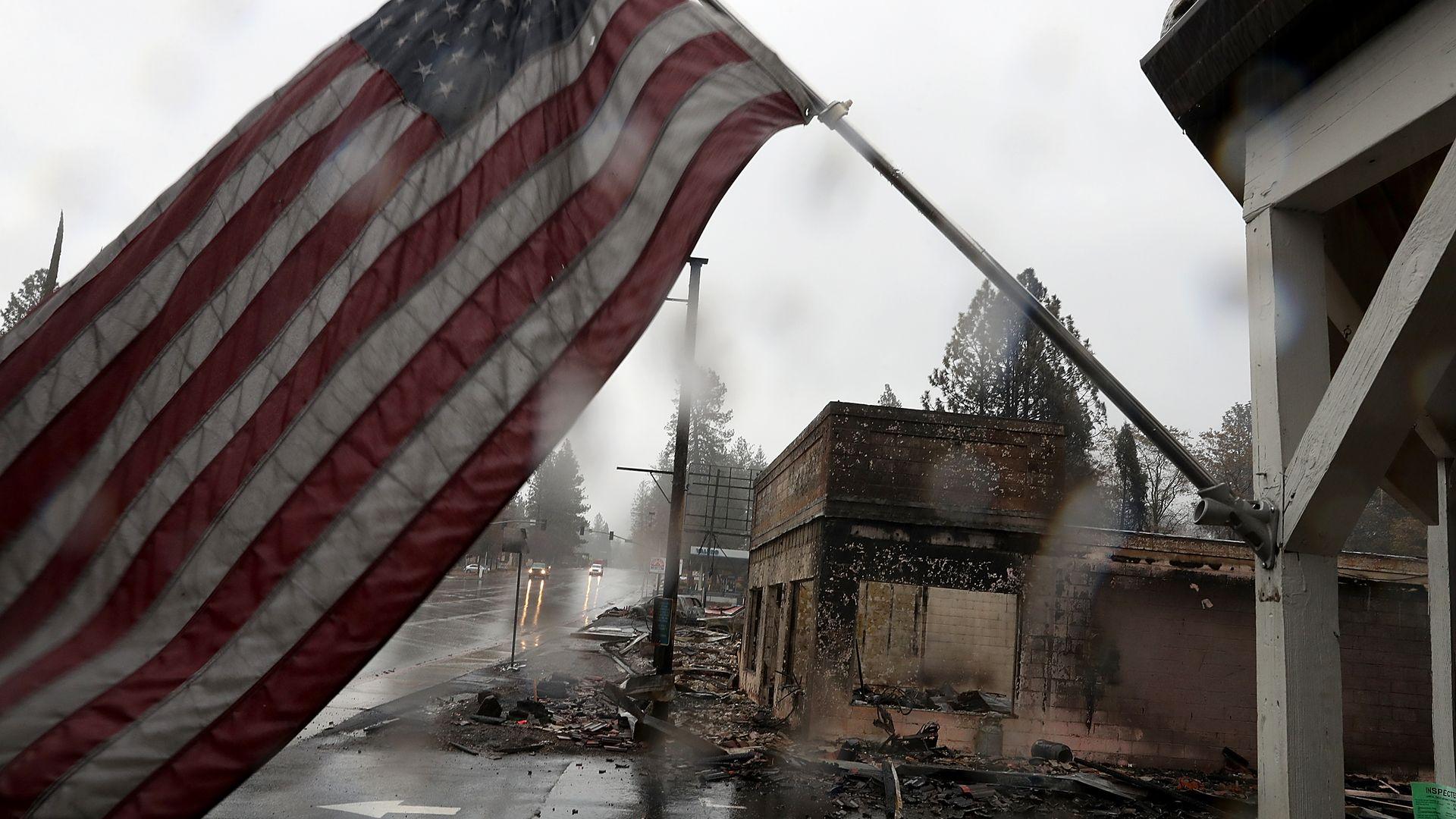 Paradise california damage