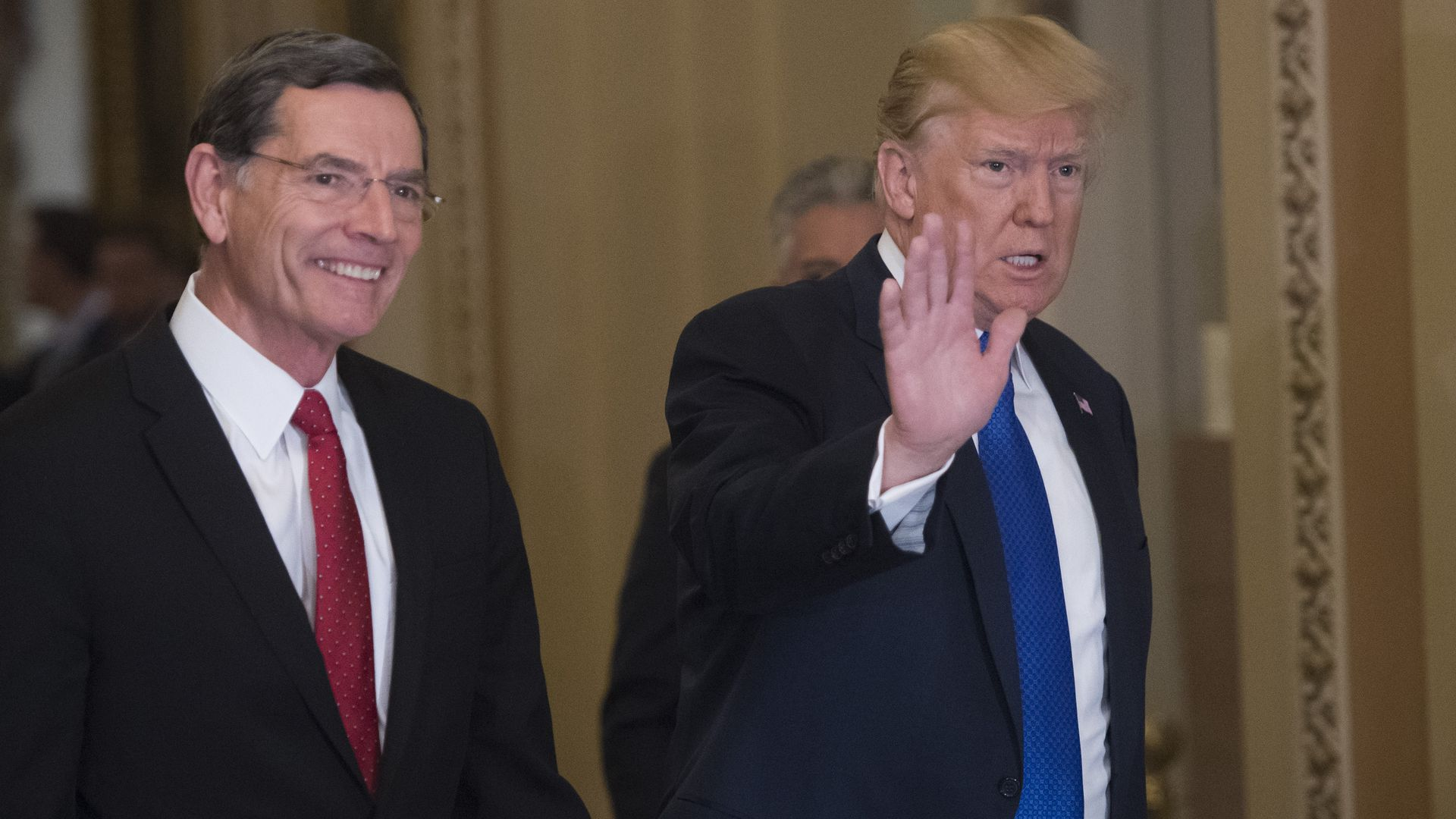 Sen. John Barrasso and President Trump