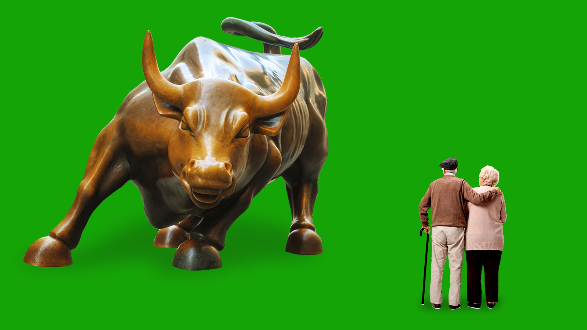 The Wall Street bull staring down mom and pop