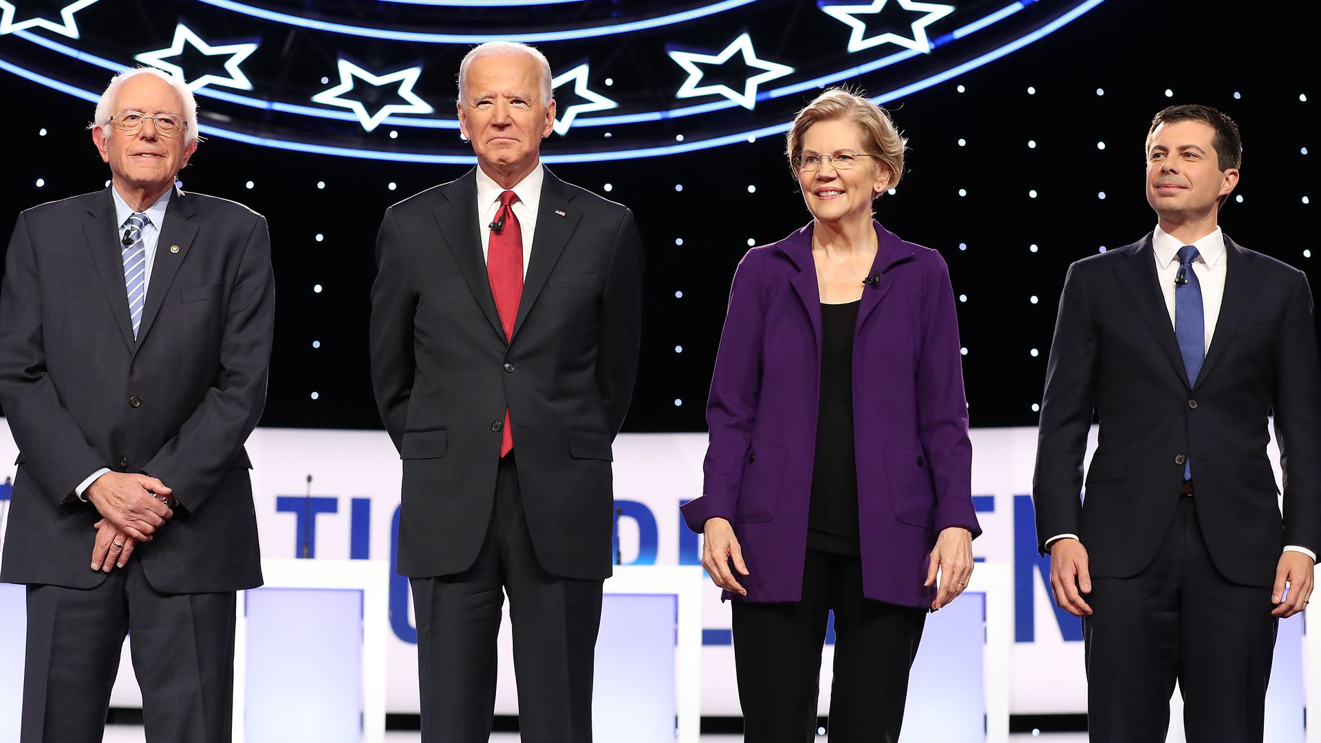 Sen. Bernie Sanders, Former Vice President Joe Biden, Sen. Elizabeth Warren and Mayor Pete Buttigieg